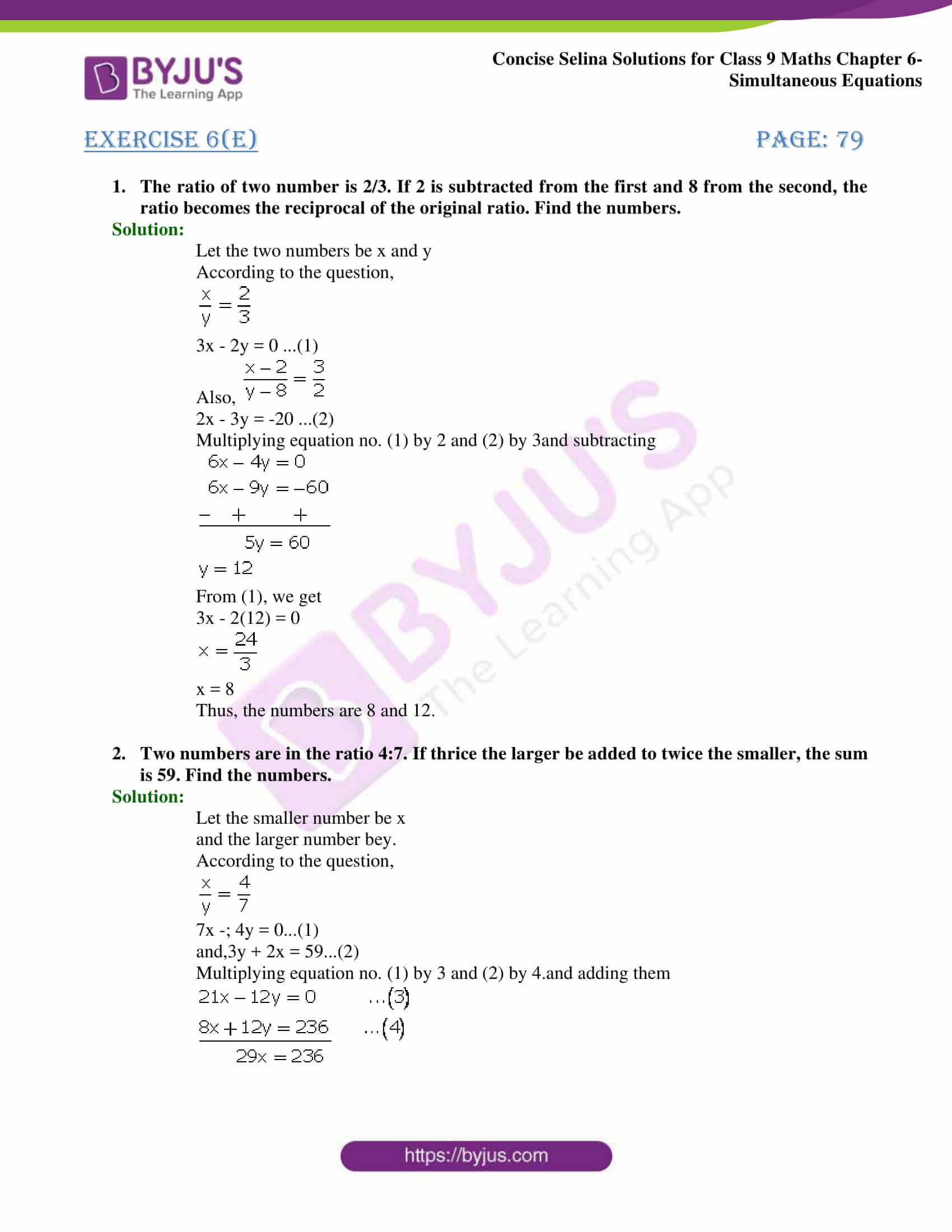 Selina Solutions Class 9 Maths Chapter 6 Simultaneous Equations part 37
