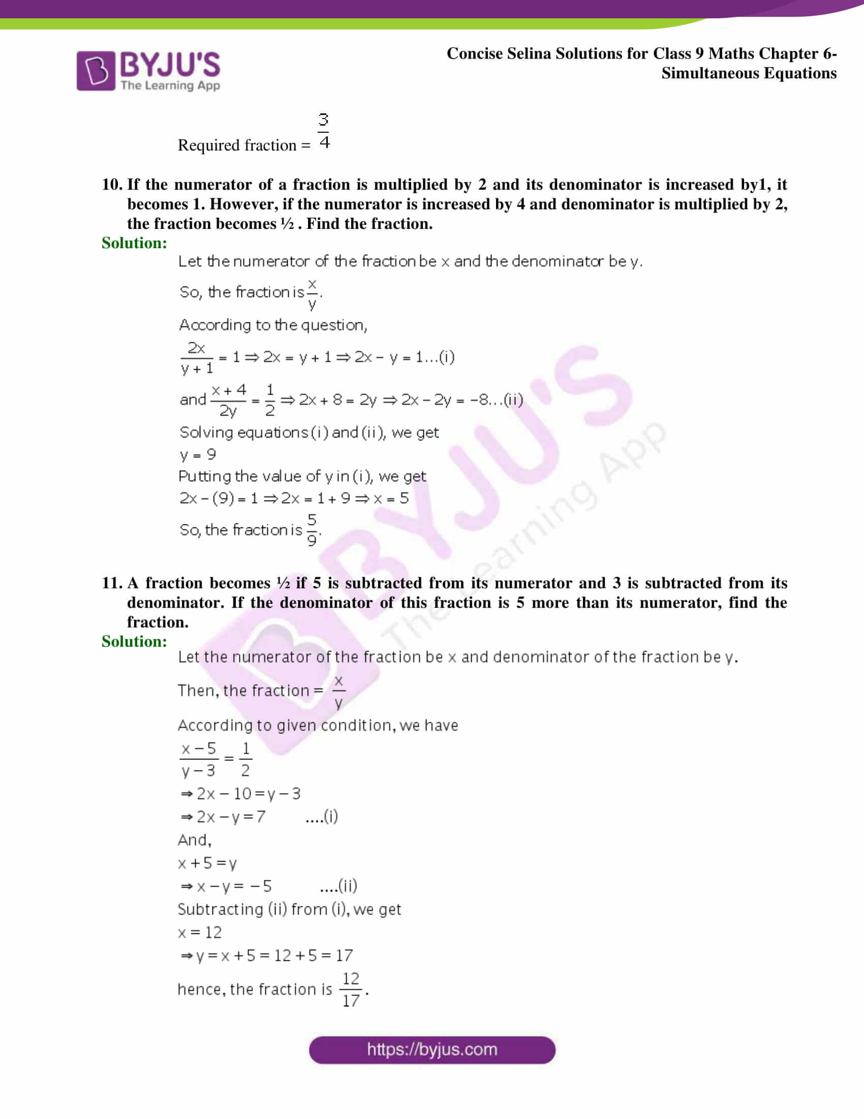 Selina Solutions Class 9 Maths Chapter 6 Simultaneous Equations part 42
