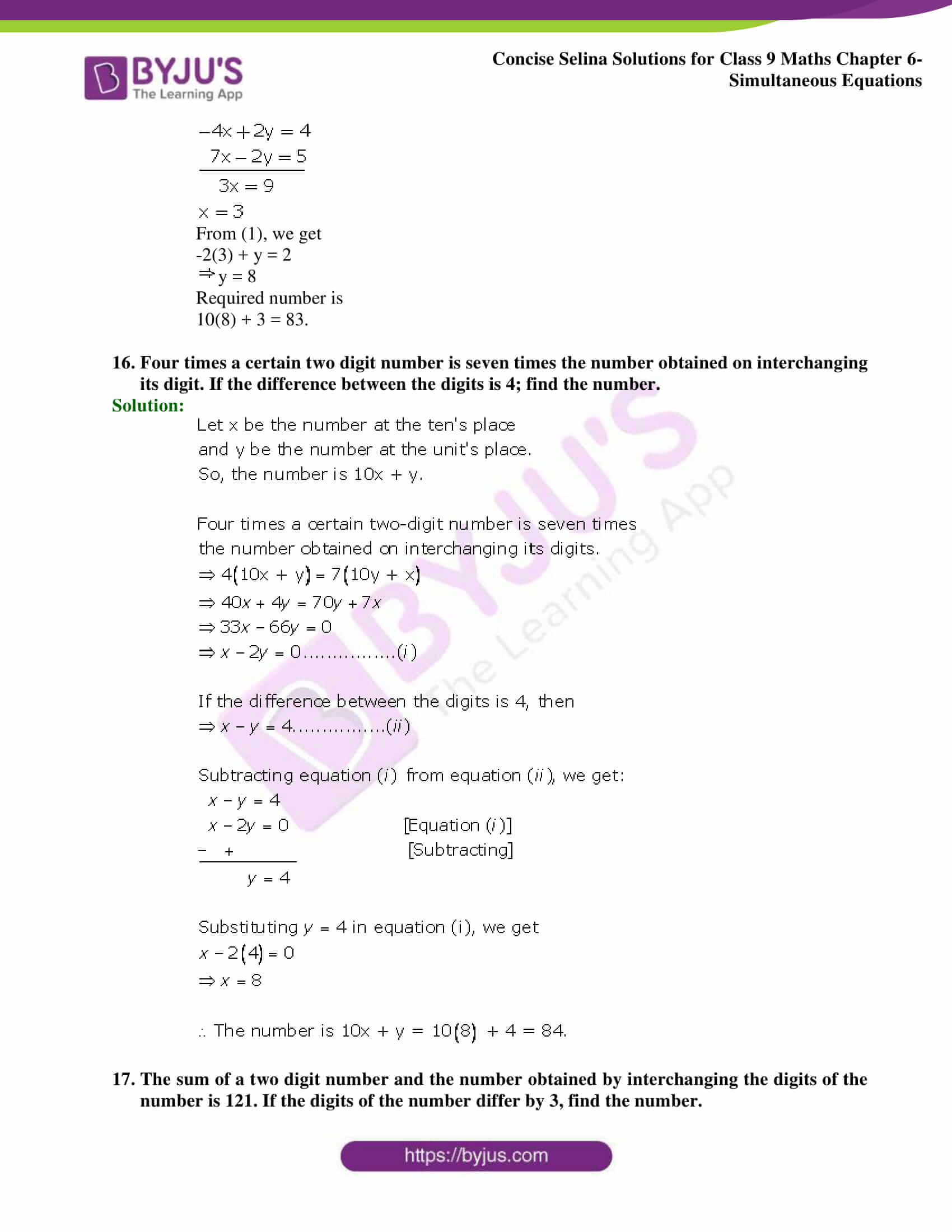 Selina Solutions Class 9 Maths Chapter 6 Simultaneous Equations part 45