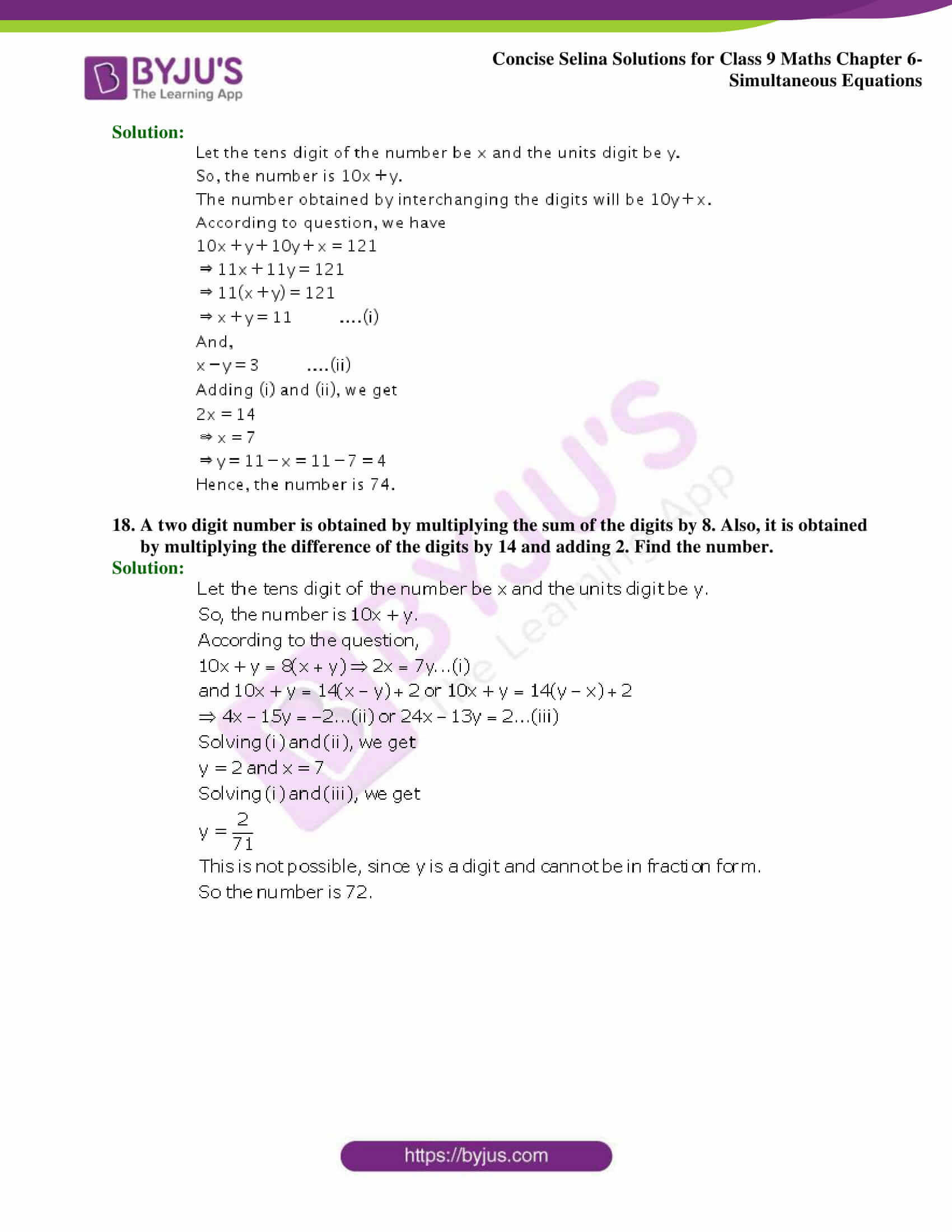 Selina Solutions Class 9 Maths Chapter 6 Simultaneous Equations part 46