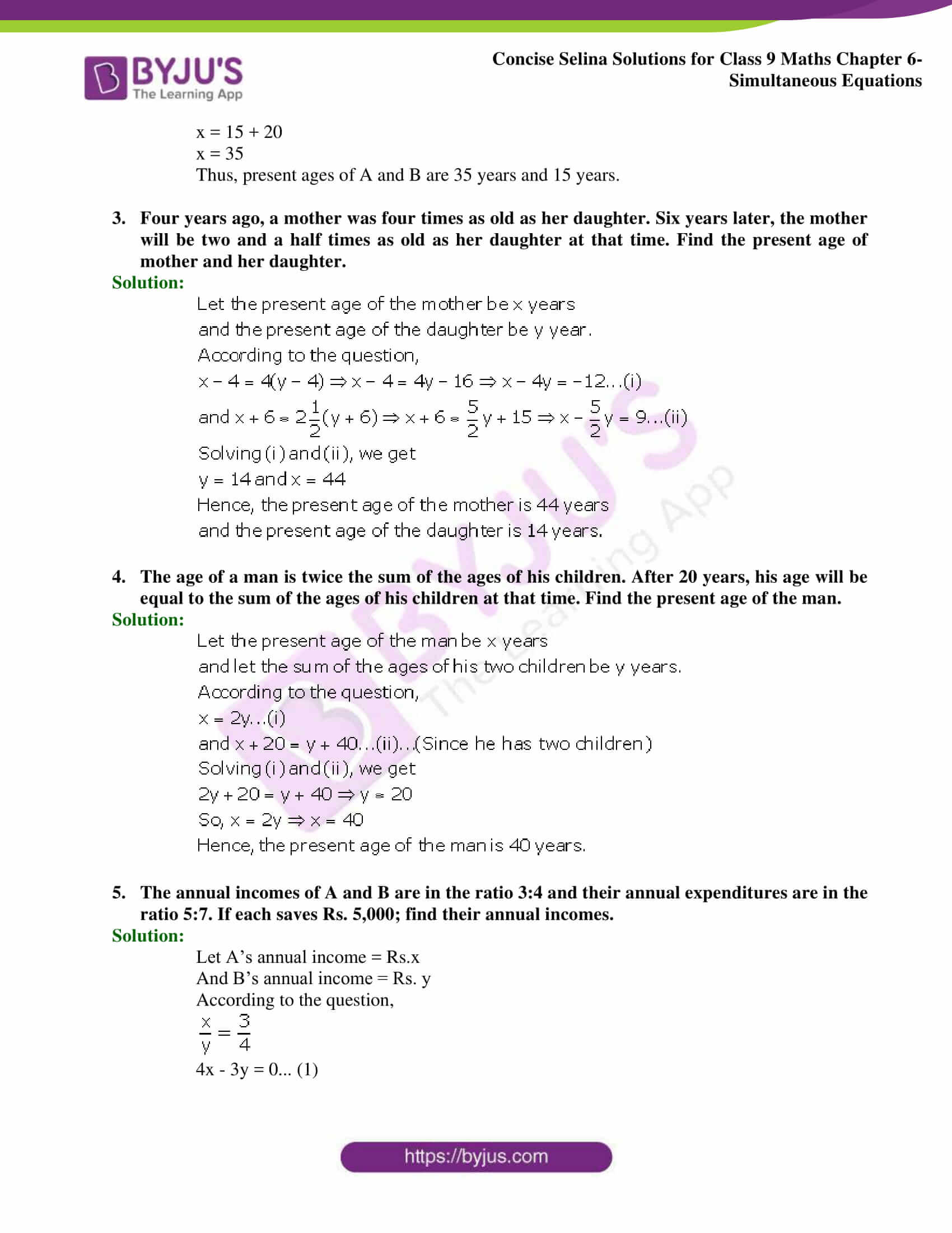Selina Solutions Class 9 Maths Chapter 6 Simultaneous Equations part 48