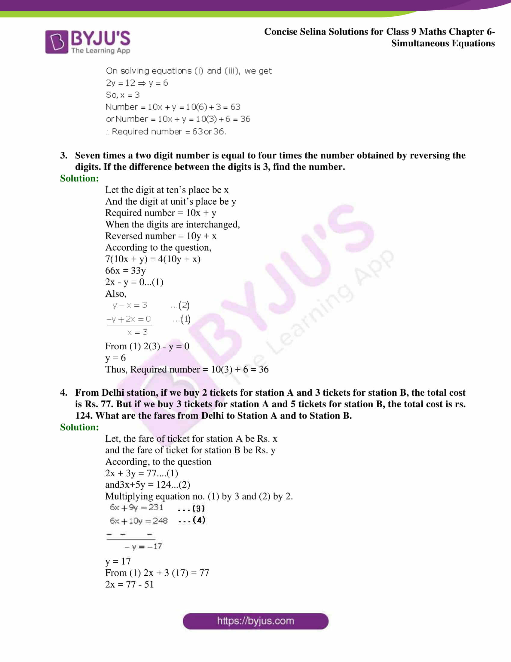 Selina Solutions Class 9 Maths Chapter 6 Simultaneous Equations part 54