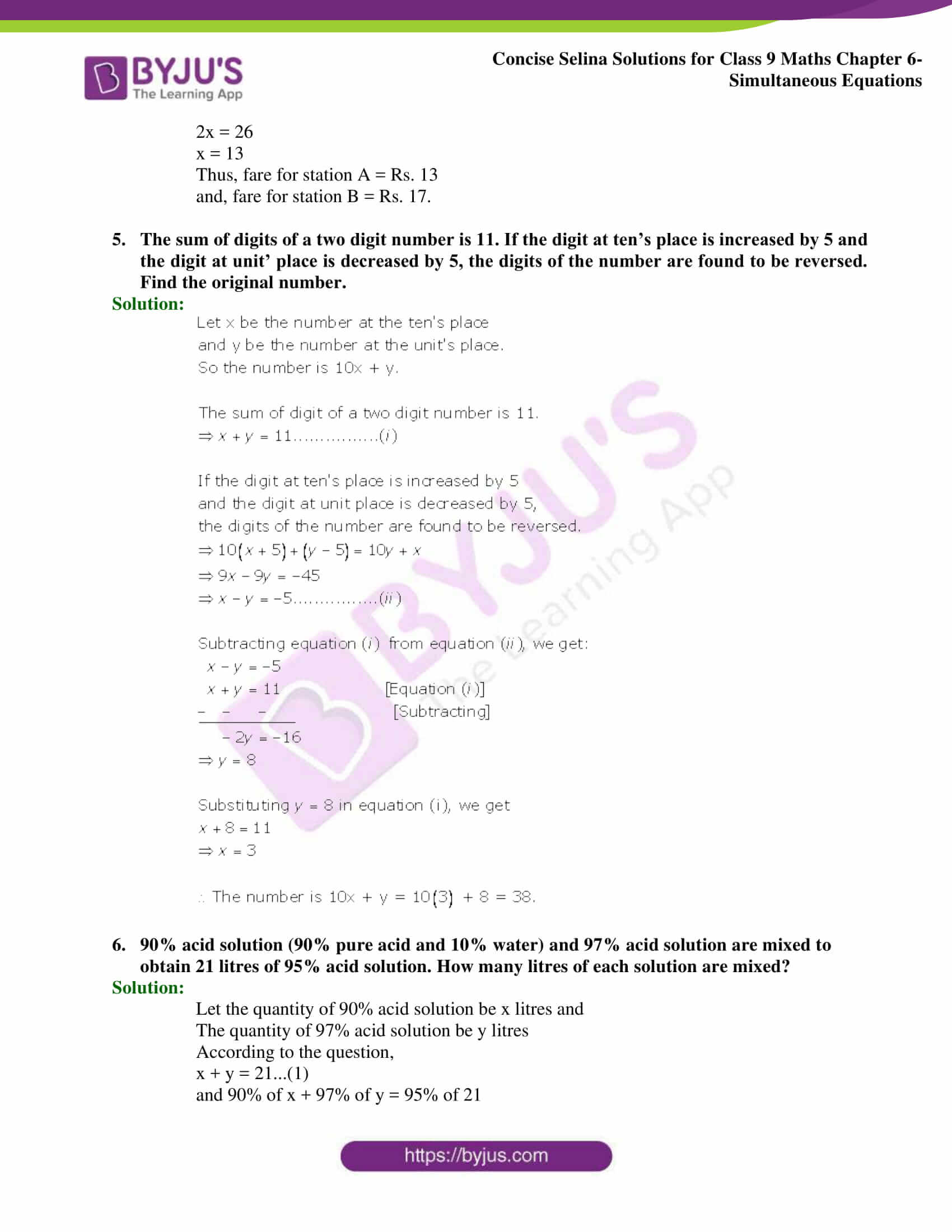 Selina Solutions Class 9 Maths Chapter 6 Simultaneous Equations part 55