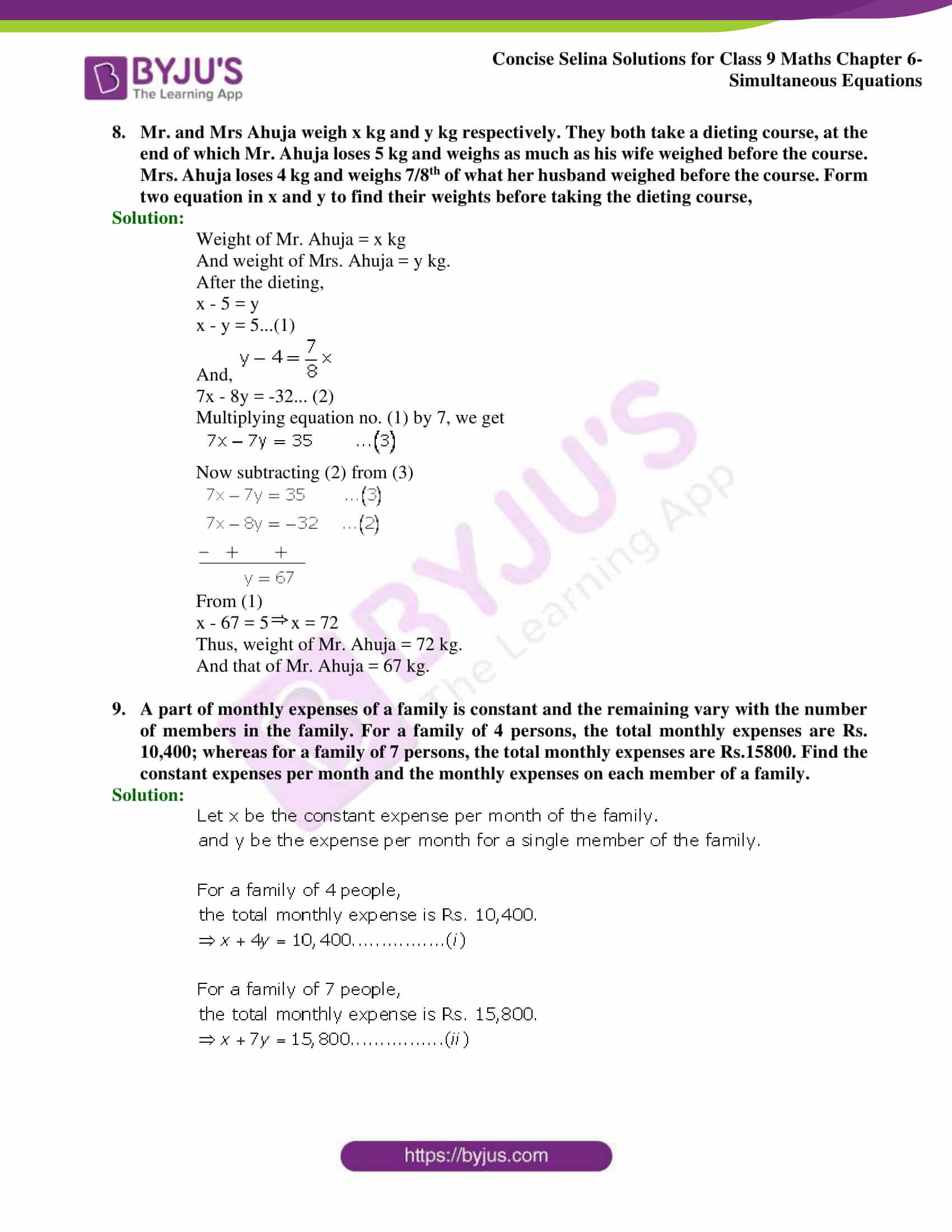Selina Solutions Class 9 Maths Chapter 6 Simultaneous Equations part 57
