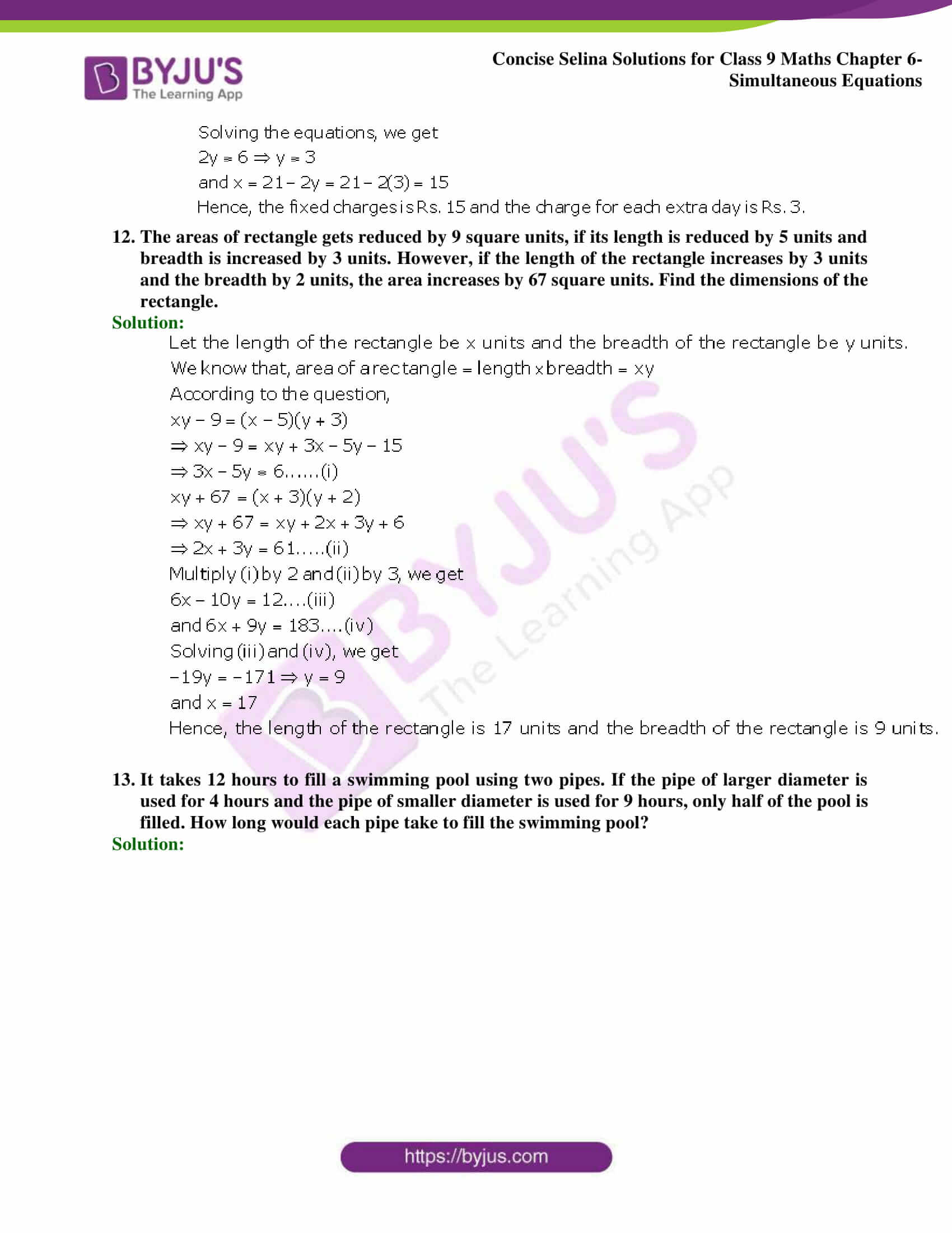 Selina Solutions Class 9 Maths Chapter 6 Simultaneous Equations part 59