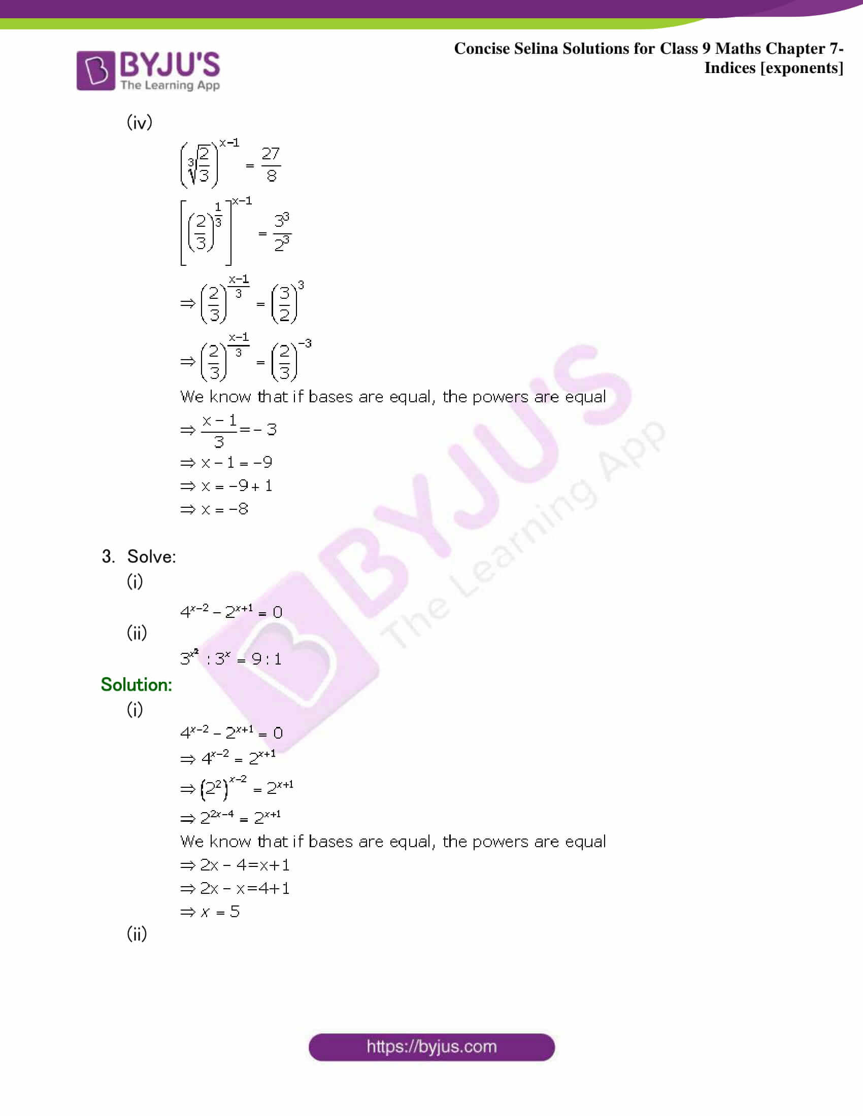 Selina Solutions Class 9 Maths Chapter 7 Indices part 17