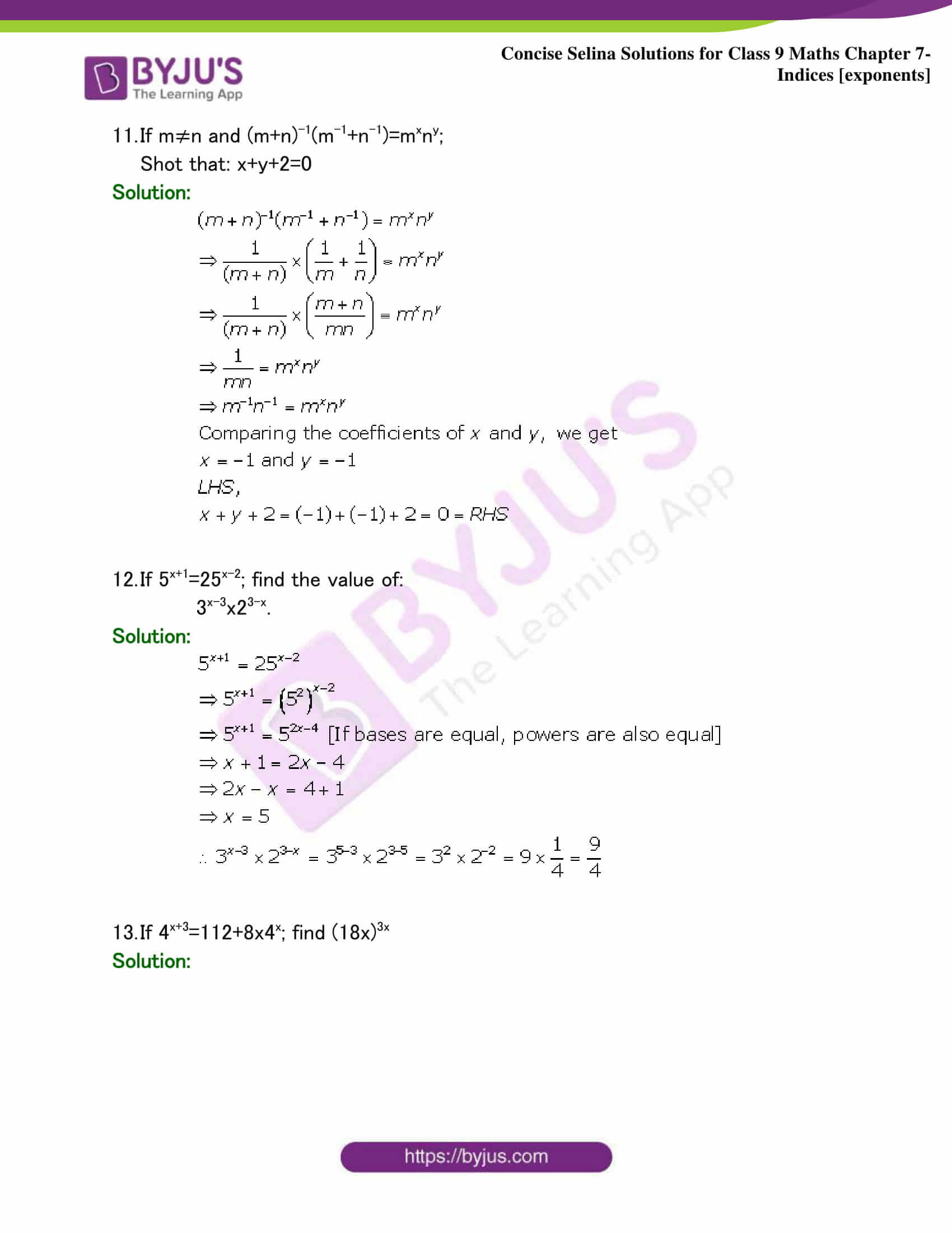 Selina Solutions Class 9 Maths Chapter 7 Indices part 25
