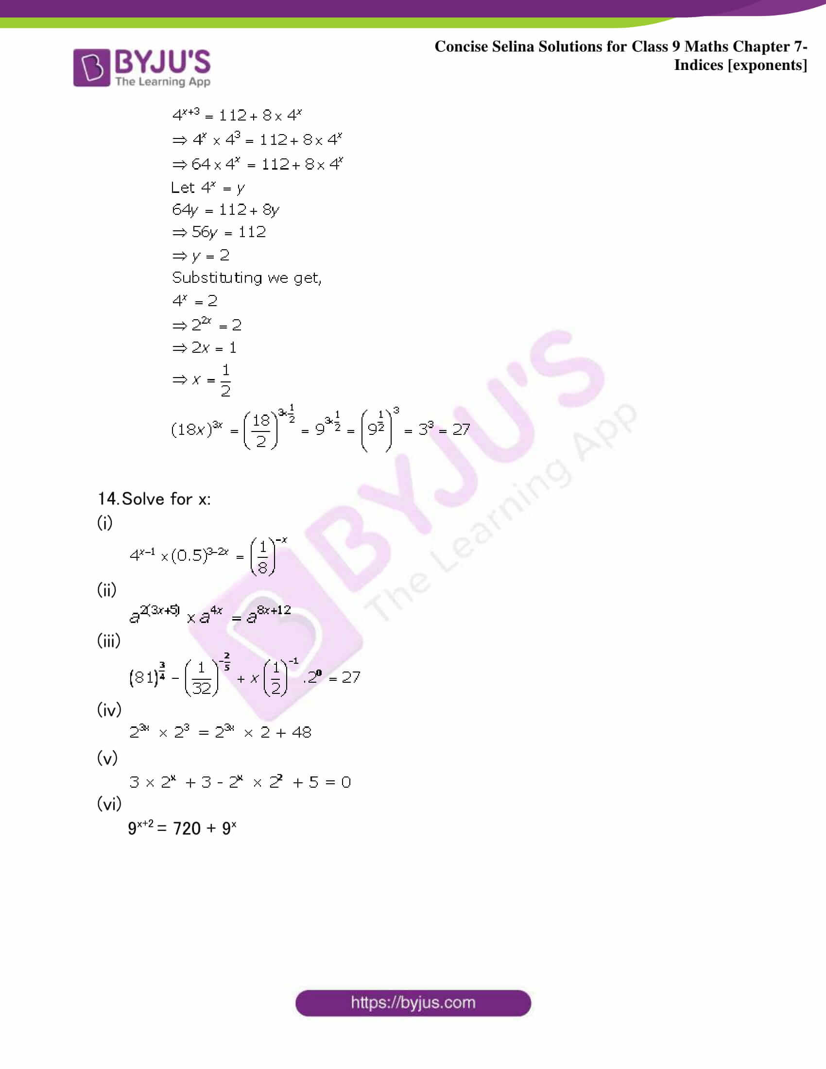 Selina Solutions Class 9 Maths Chapter 7 Indices part 26