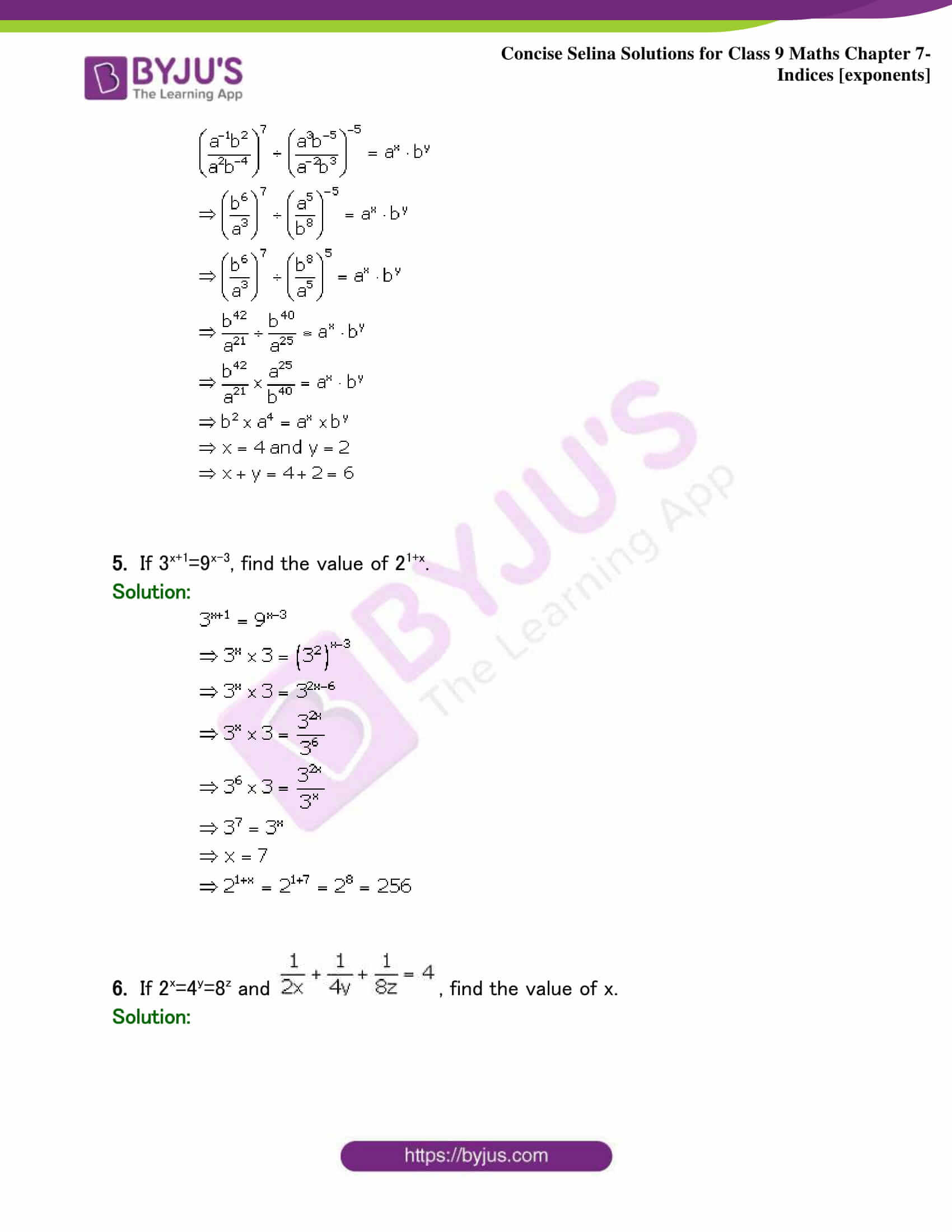 Selina Solutions Class 9 Maths Chapter 7 Indices part 31