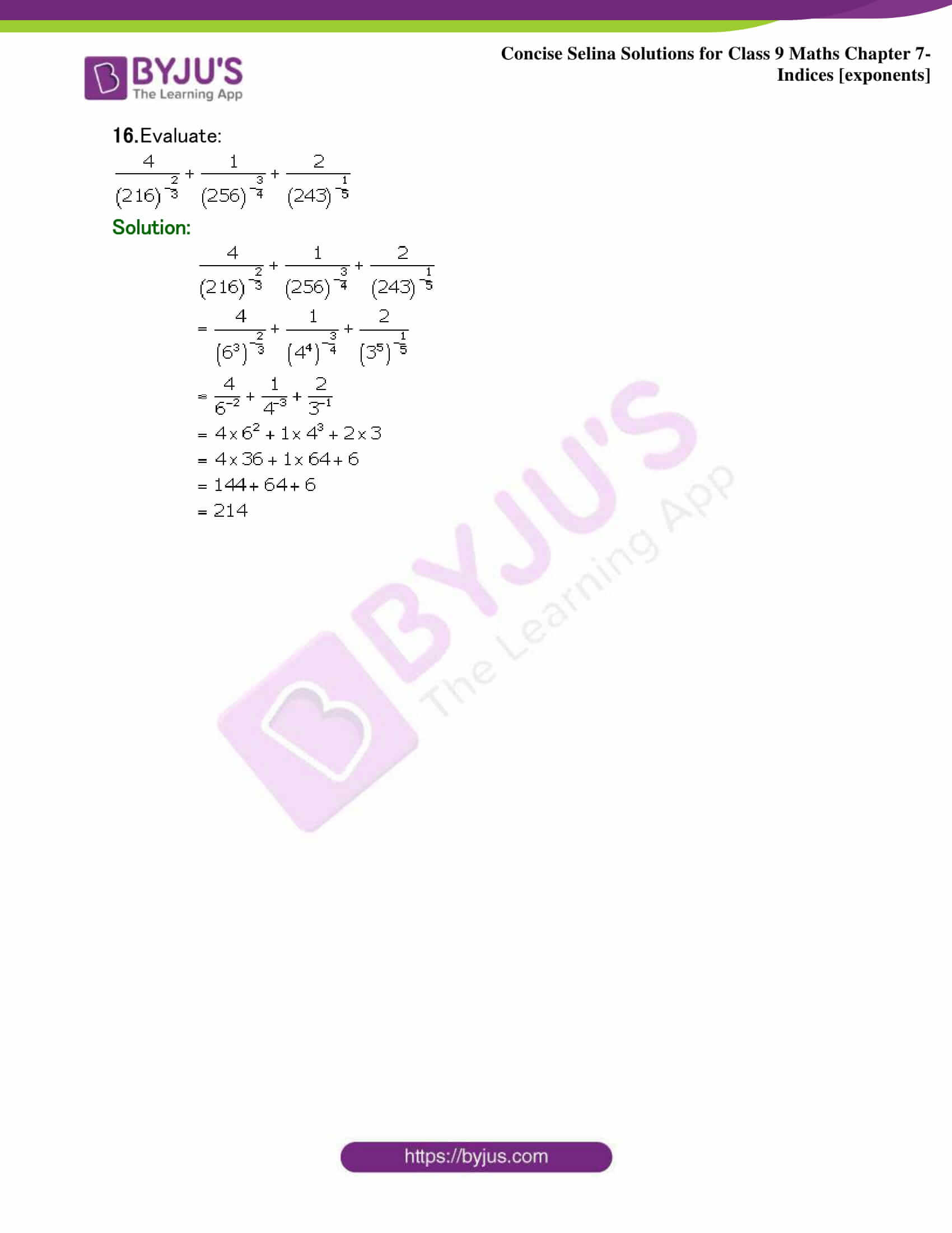 Selina Solutions Class 9 Maths Chapter 7 Indices part 37