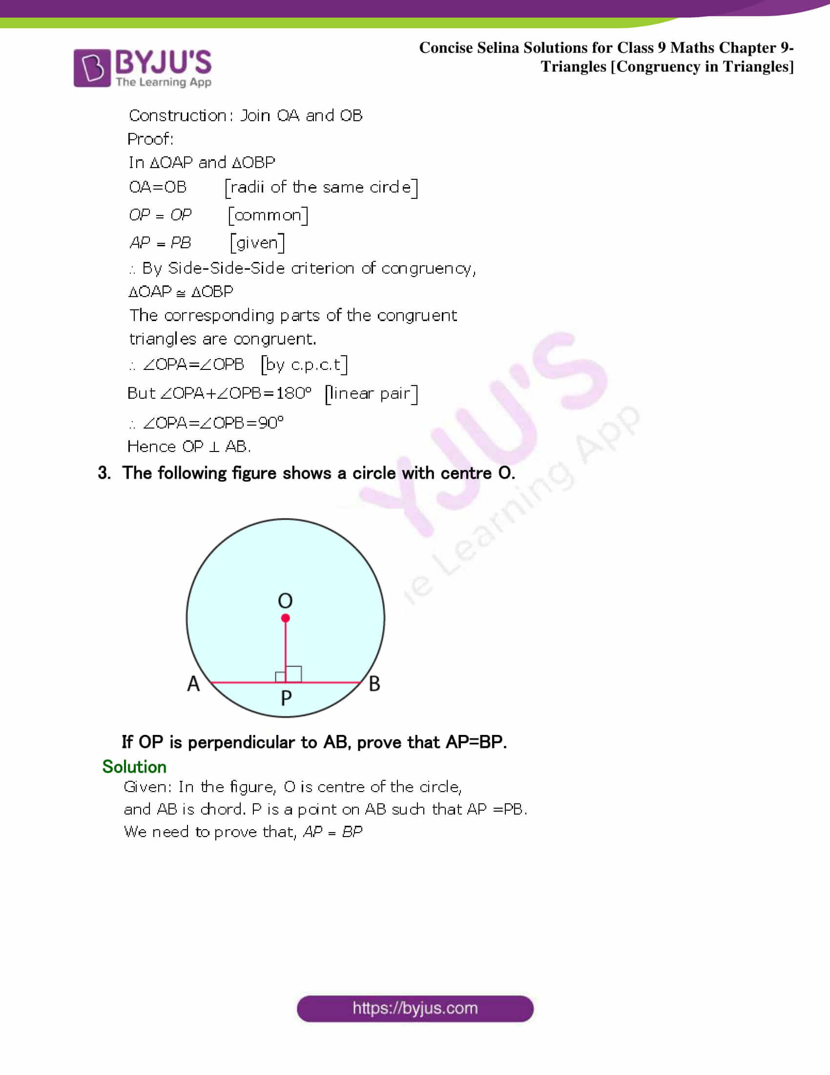 Selina Solutions Class 9 Maths Chapter 9 Triangles part 05