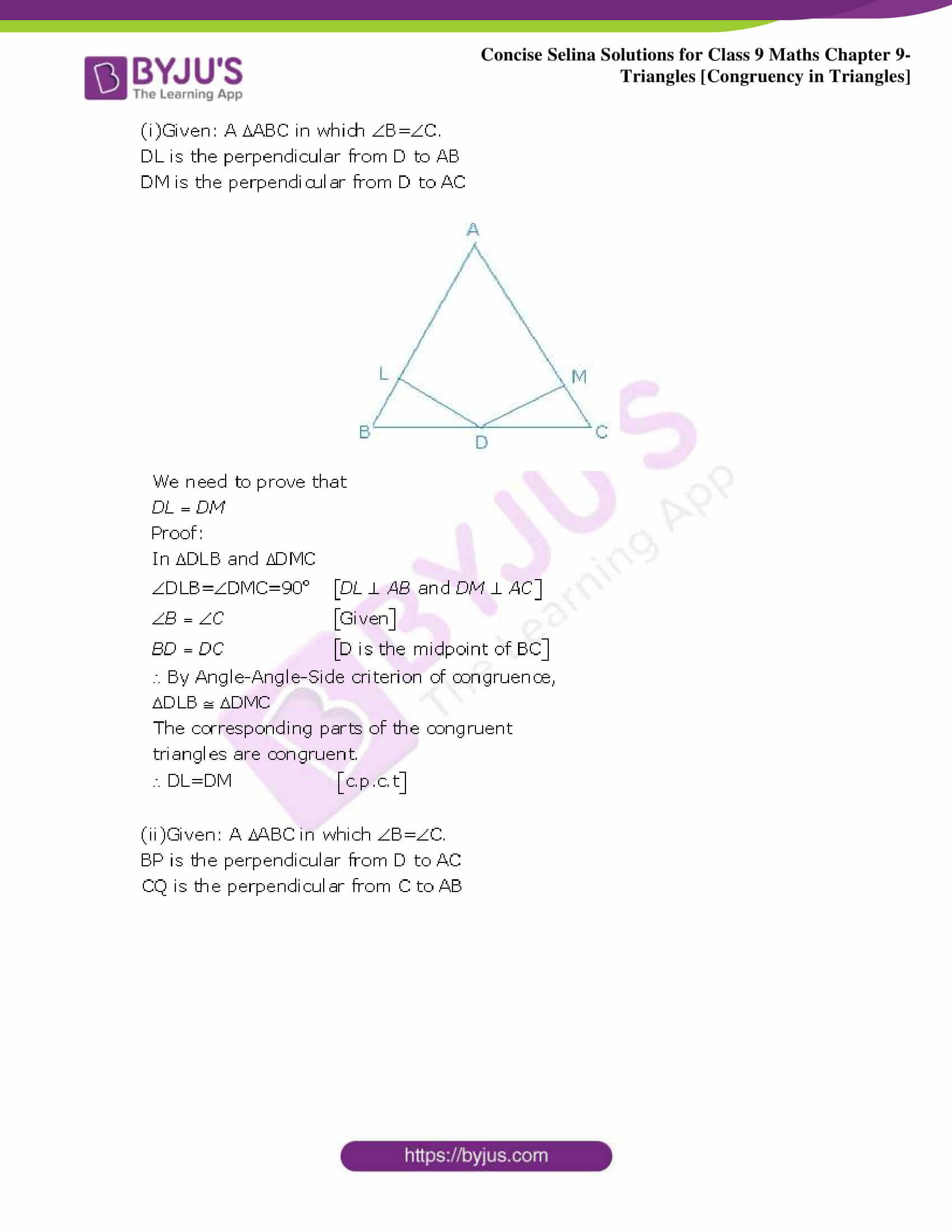 Selina Solutions Class 9 Maths Chapter 9 Triangles part 08