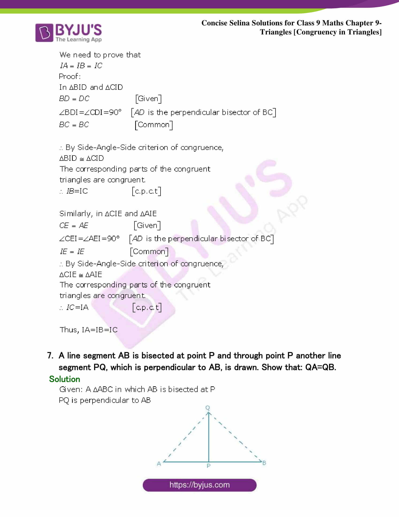 Selina Solutions Class 9 Maths Chapter 9 Triangles part 10