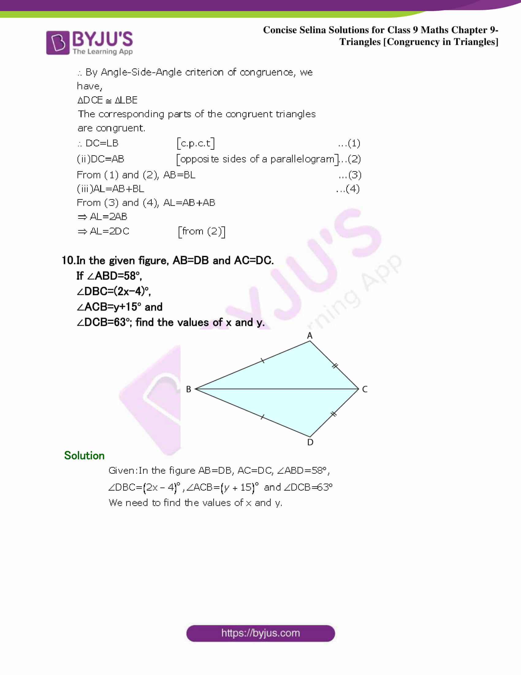 Selina Solutions Class 9 Maths Chapter 9 Triangles part 13