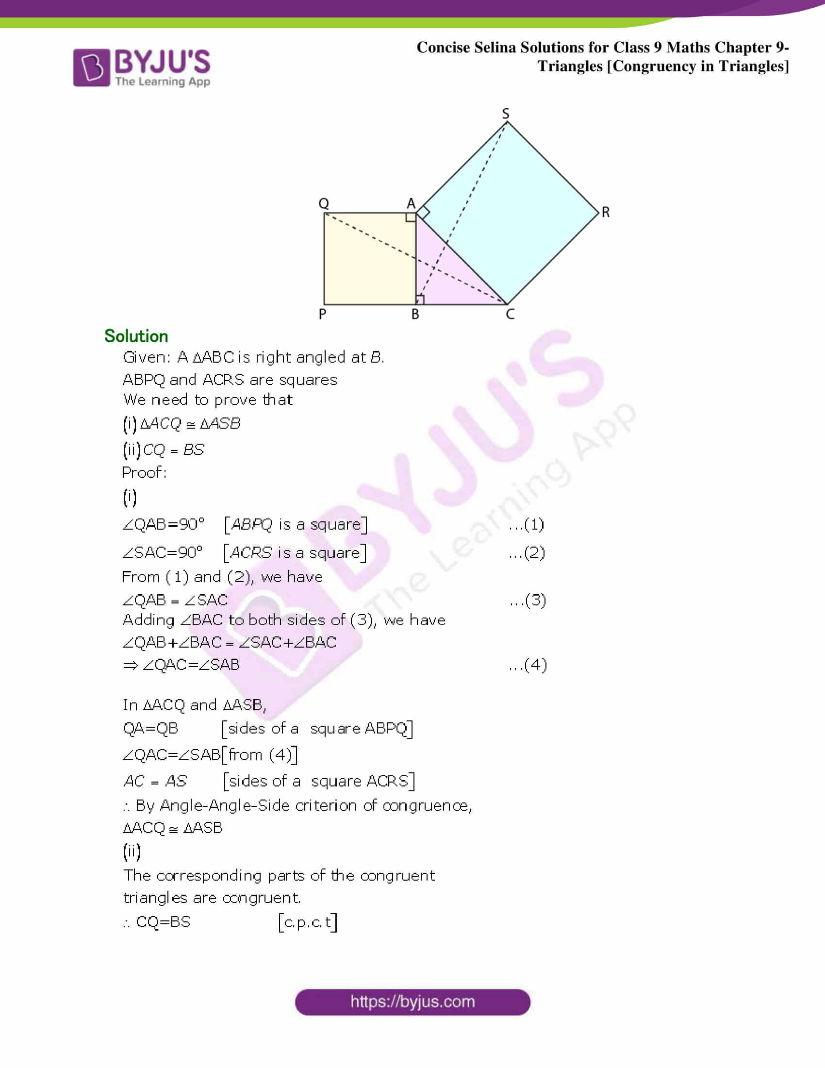Selina Solutions Class 9 Maths Chapter 9 Triangles part 26