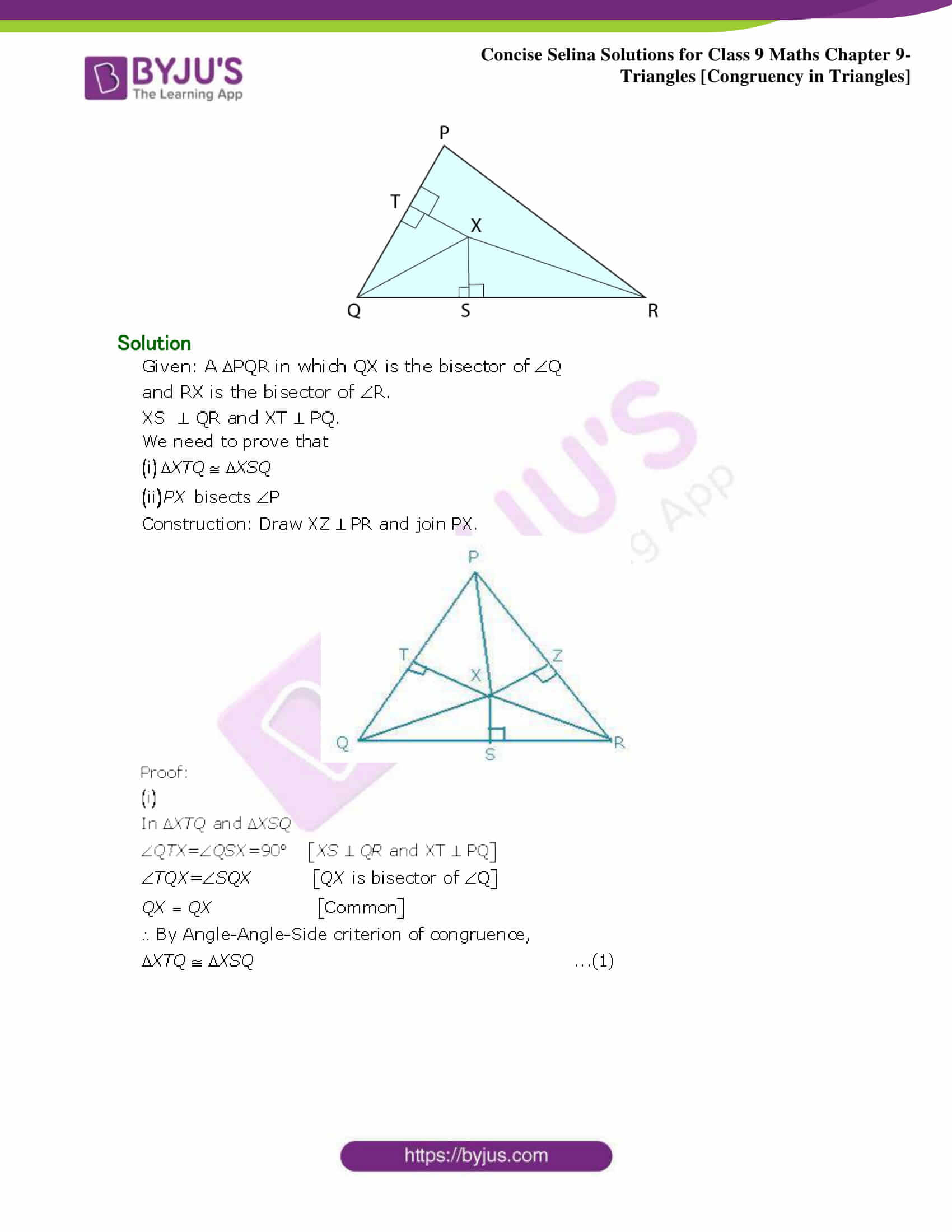 Selina Solutions Class 9 Maths Chapter 9 Triangles part 28