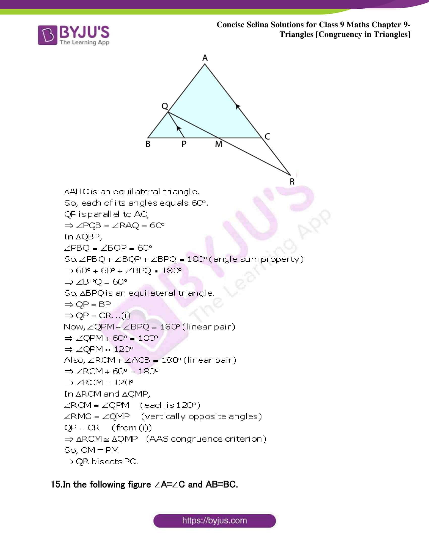 Selina Solutions Class 9 Maths Chapter 9 Triangles part 38