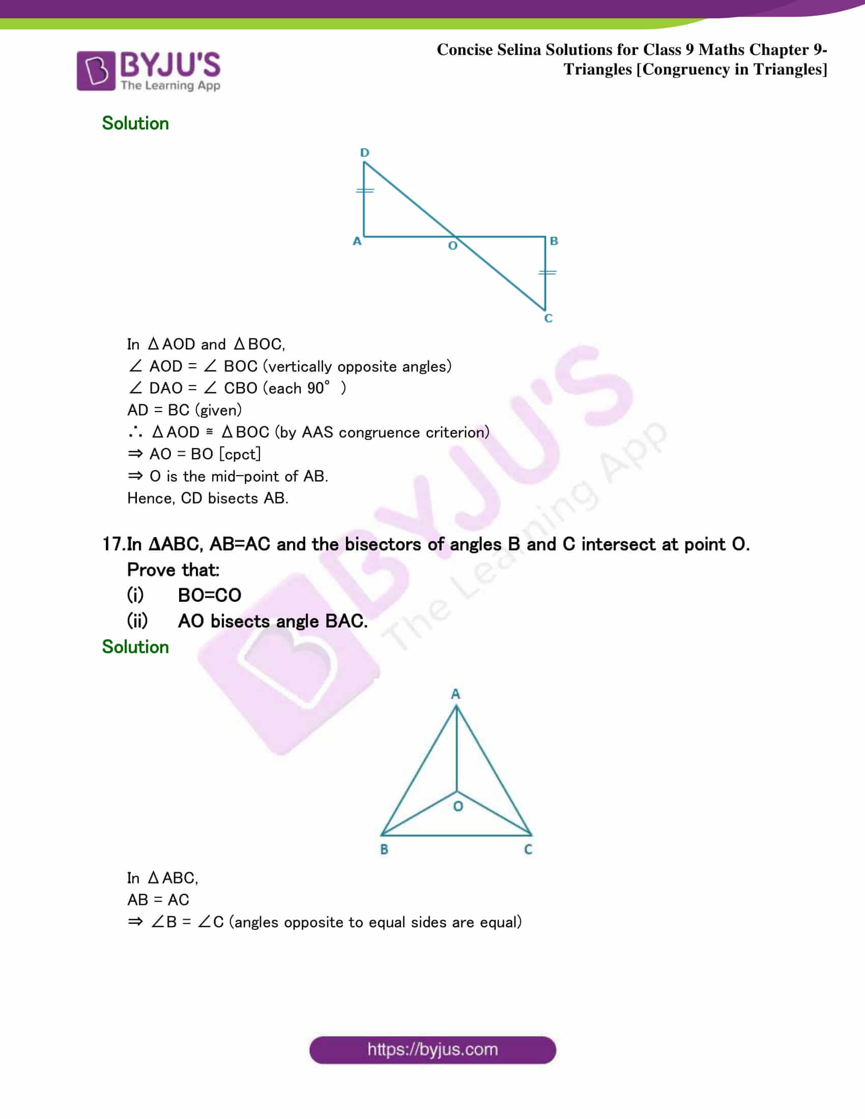 Selina Solutions Class 9 Maths Chapter 9 Triangles part 40