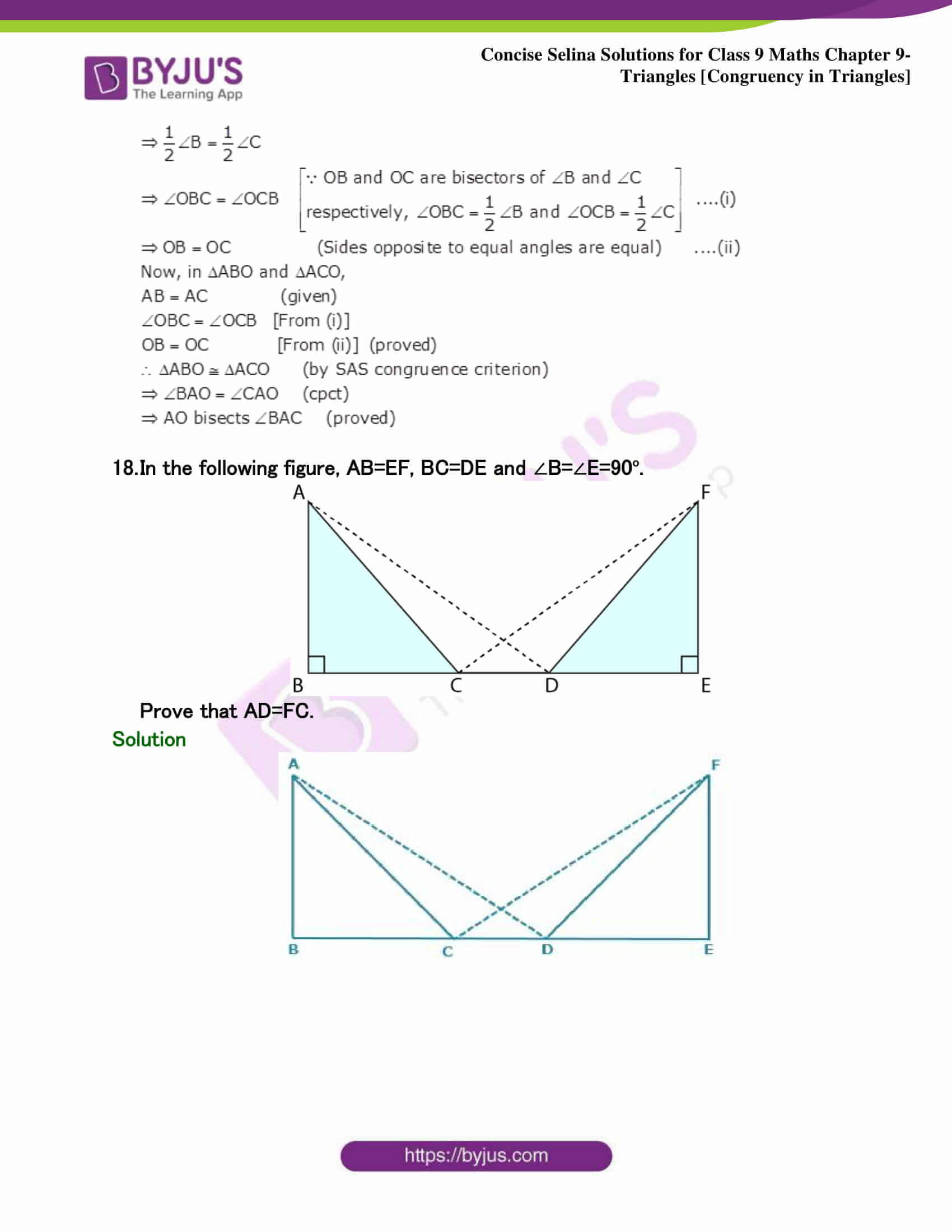 Selina Solutions Class 9 Maths Chapter 9 Triangles part 41