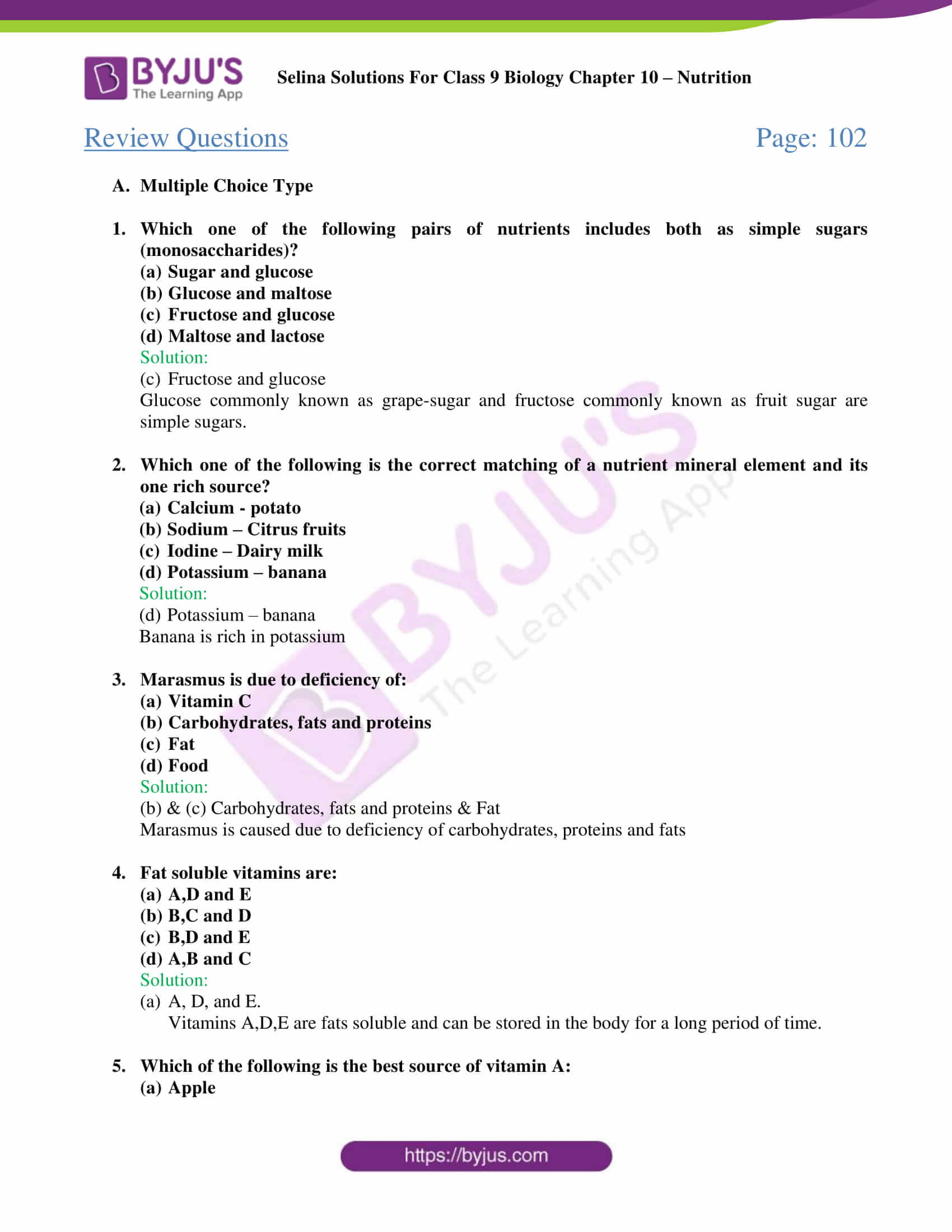 selina Solutions For Class 9 Biology Chapter 10 part 2