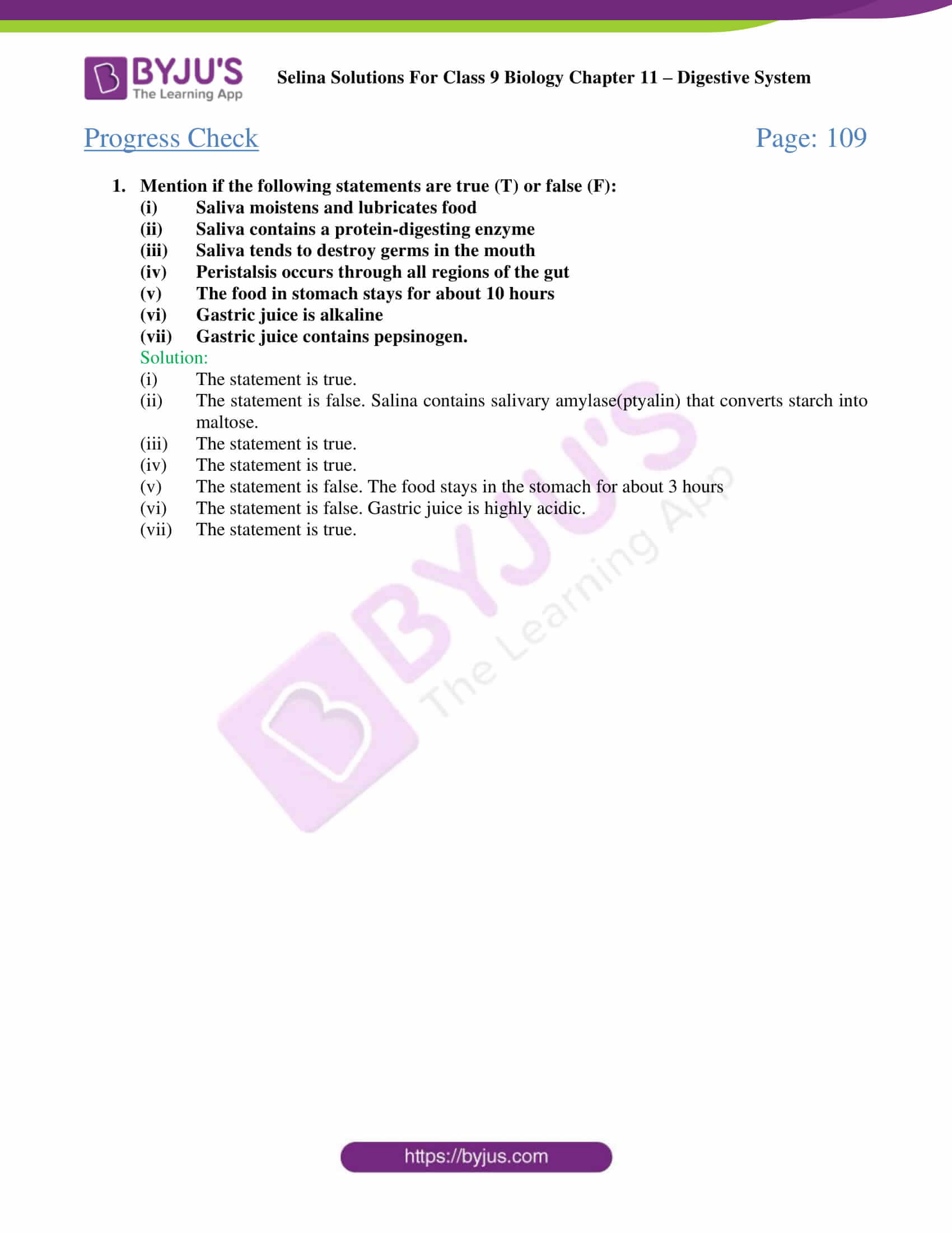 selina Solutions For Class 9 Biology Chapter 11 part 02