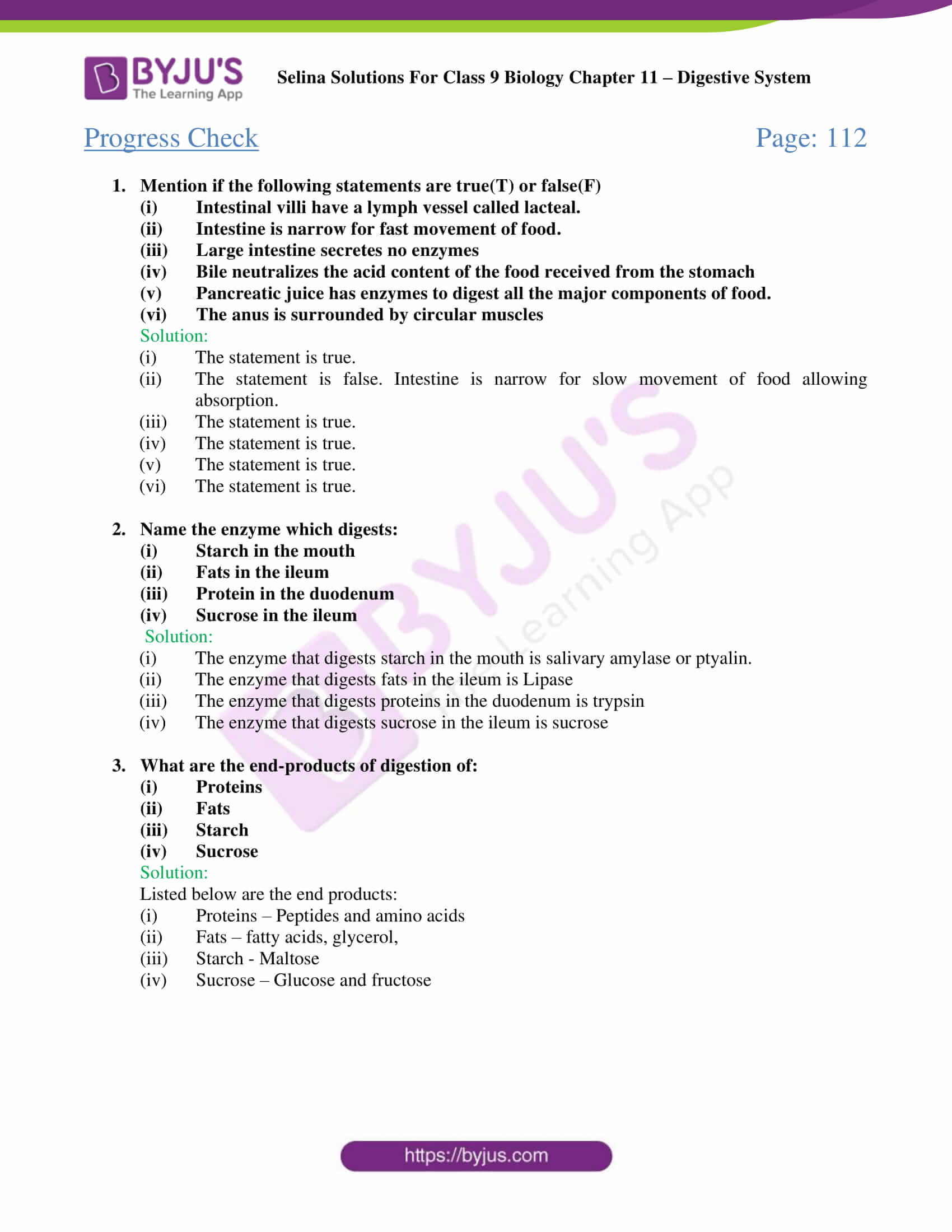 selina Solutions For Class 9 Biology Chapter 11 part 03