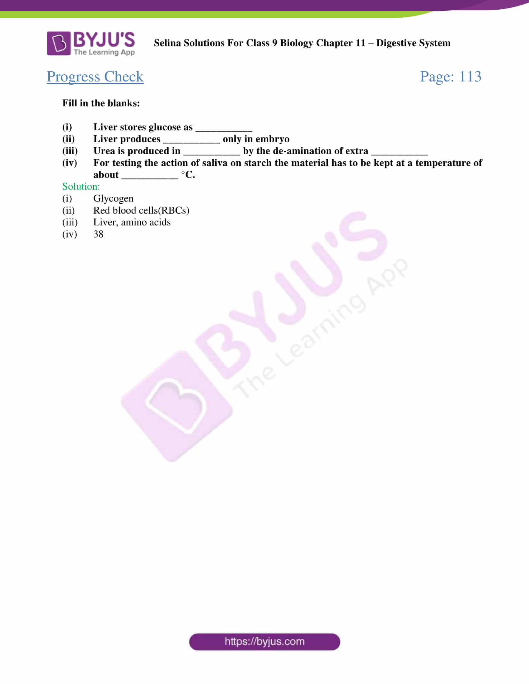 selina Solutions For Class 9 Biology Chapter 11 part 04