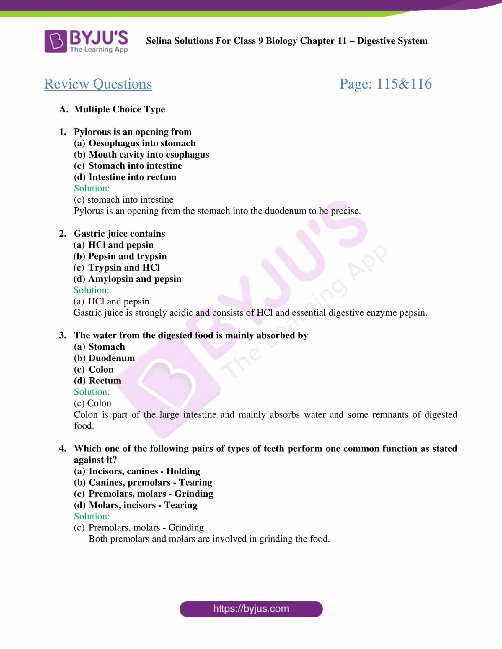 selina Solutions For Class 9 Biology Chapter 11 part 06