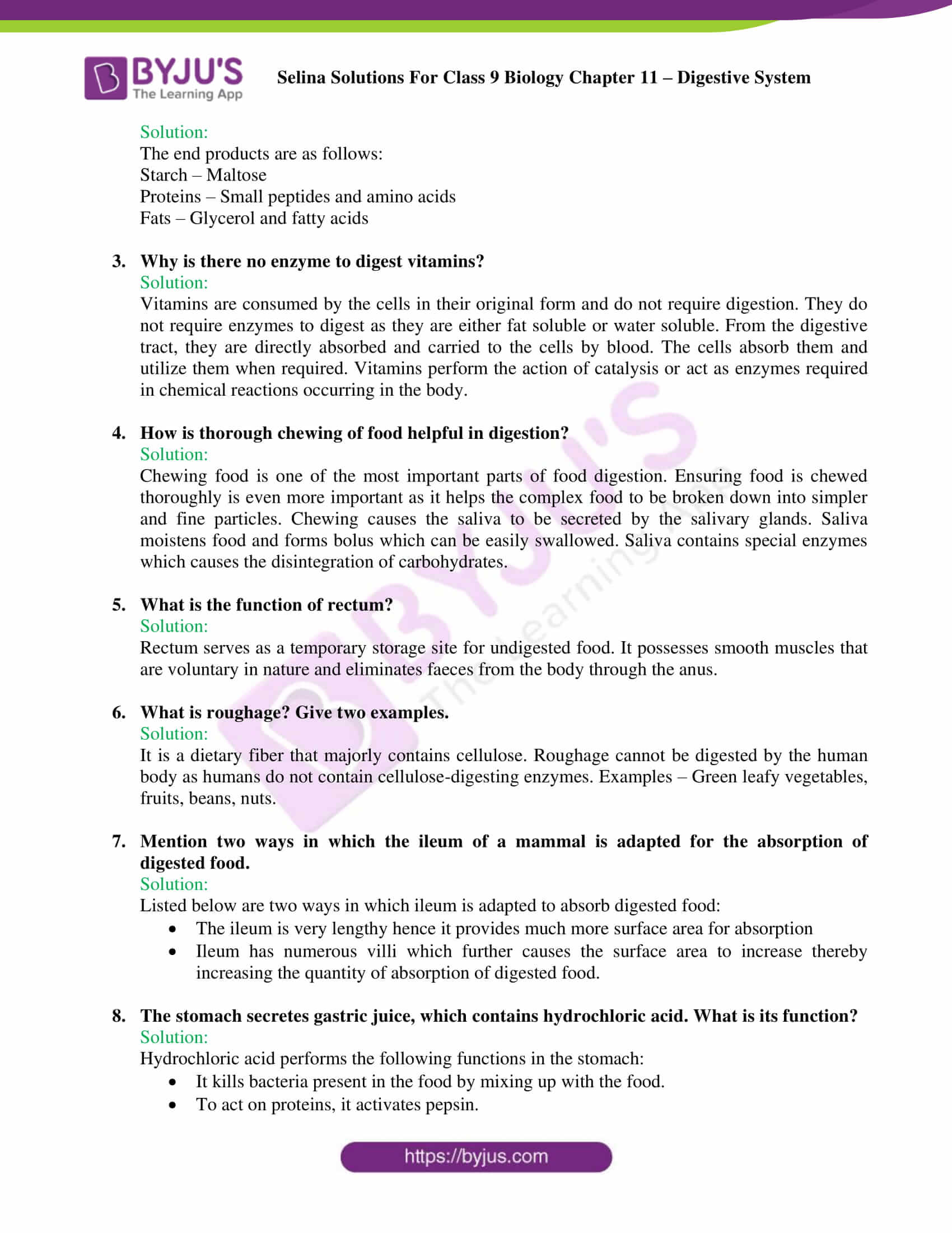selina Solutions For Class 9 Biology Chapter 11 part 08