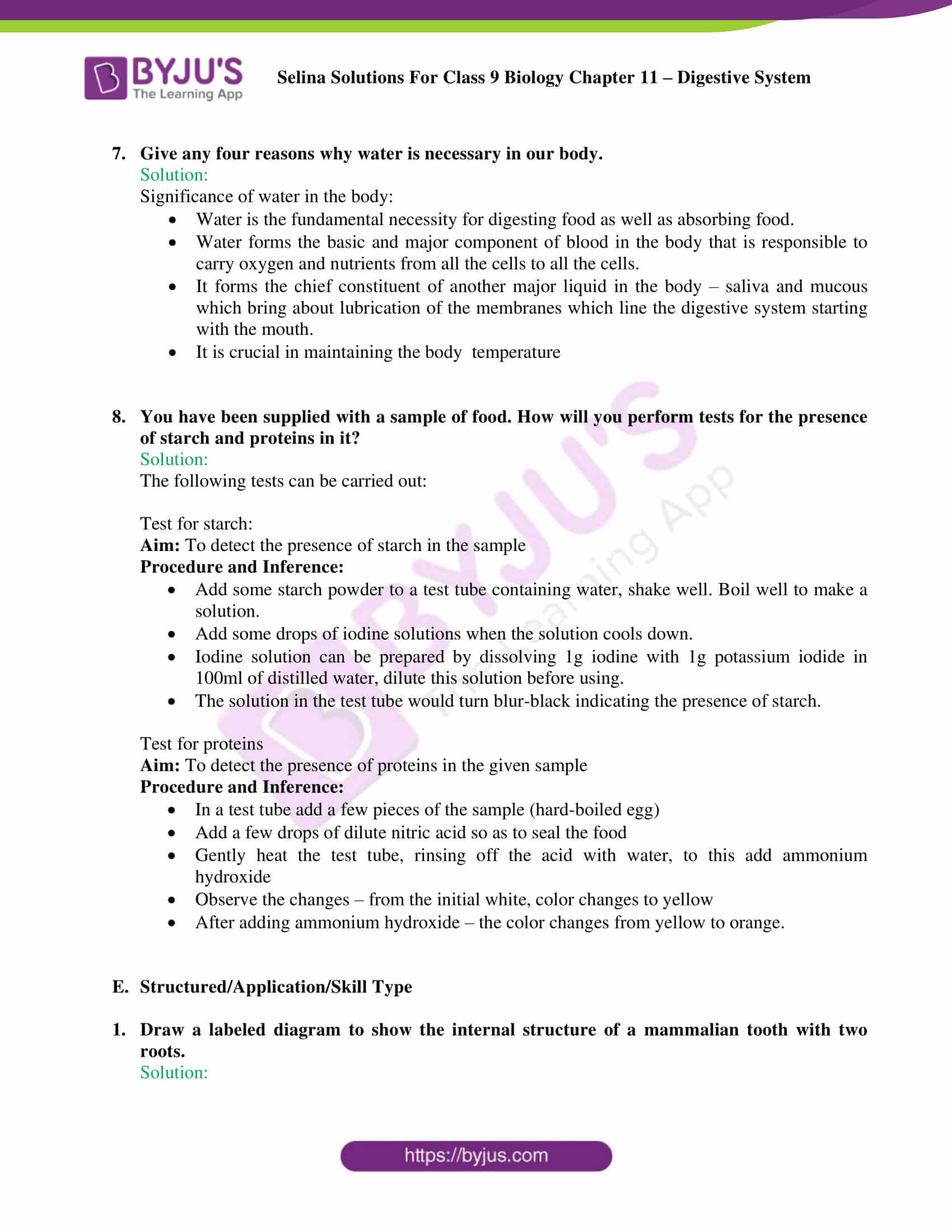 selina Solutions For Class 9 Biology Chapter 11 part 11