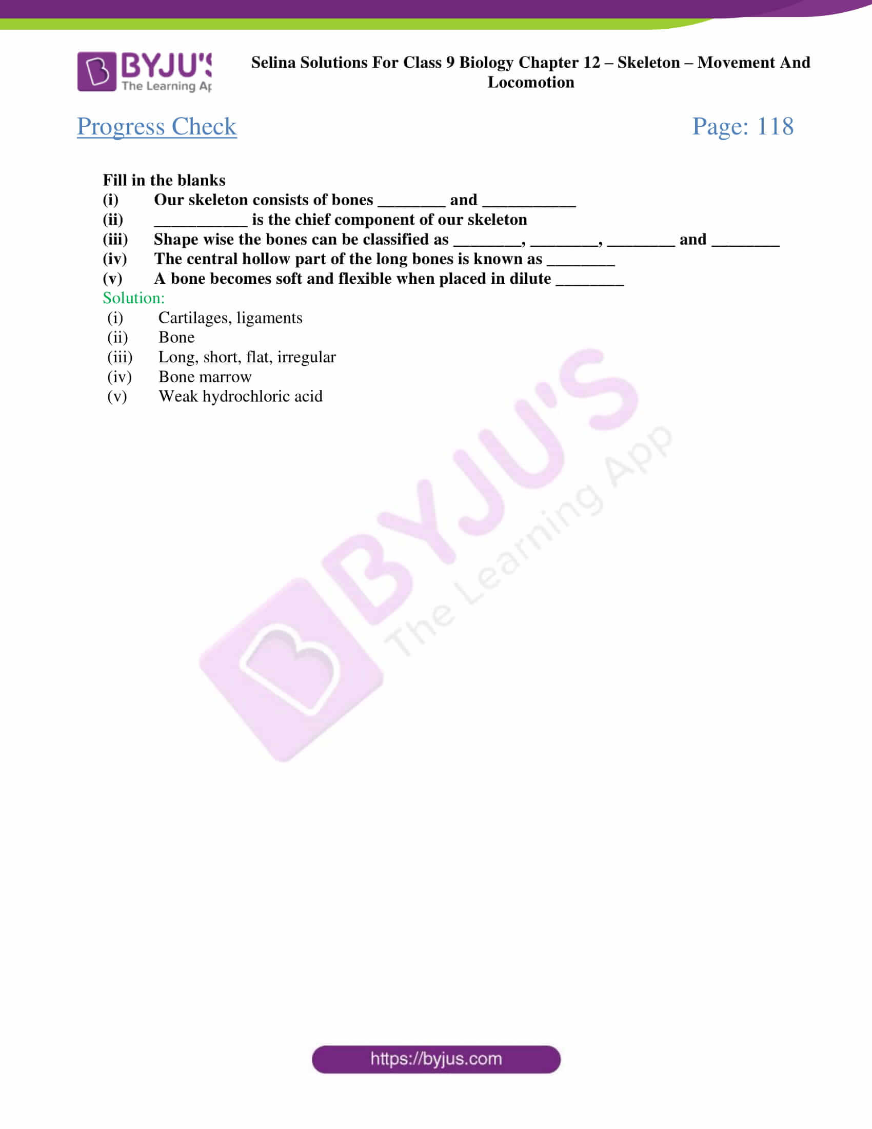 selina Solutions For Class 9 Biology Chapter 12 part 1