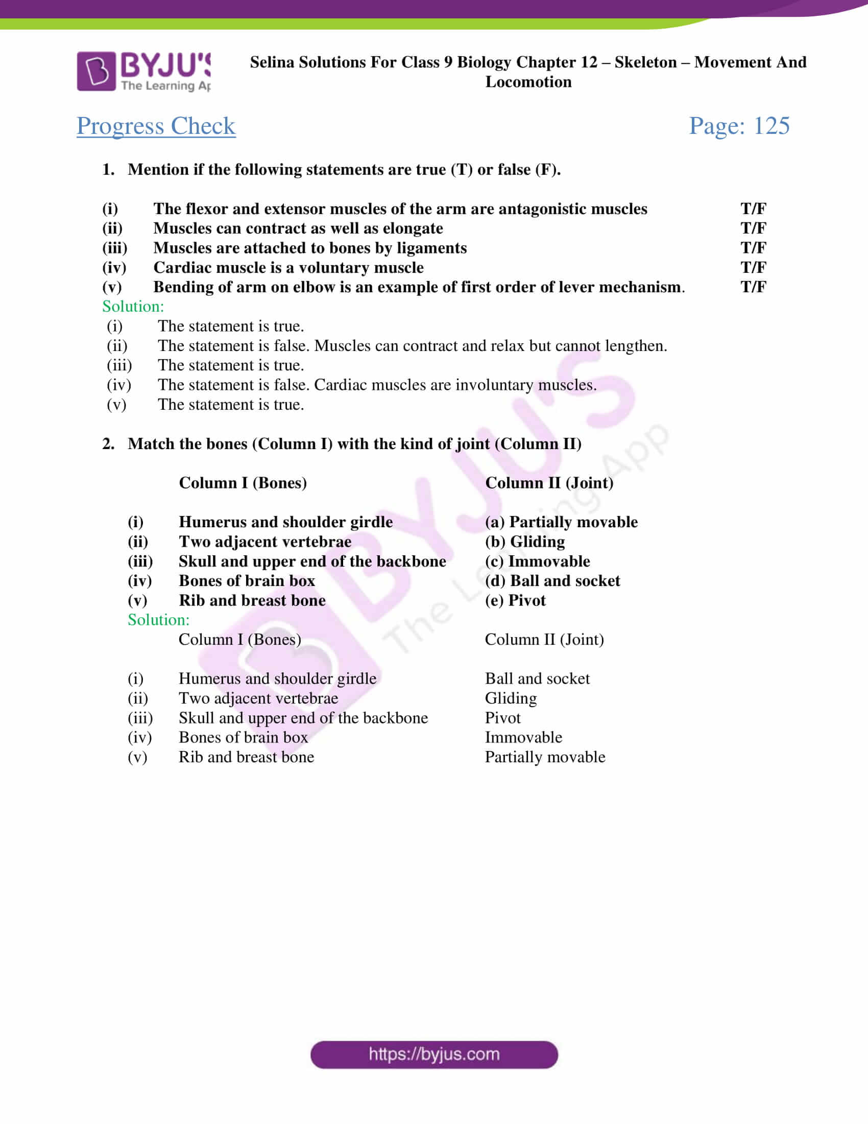 selina Solutions For Class 9 Biology Chapter 12 part 3