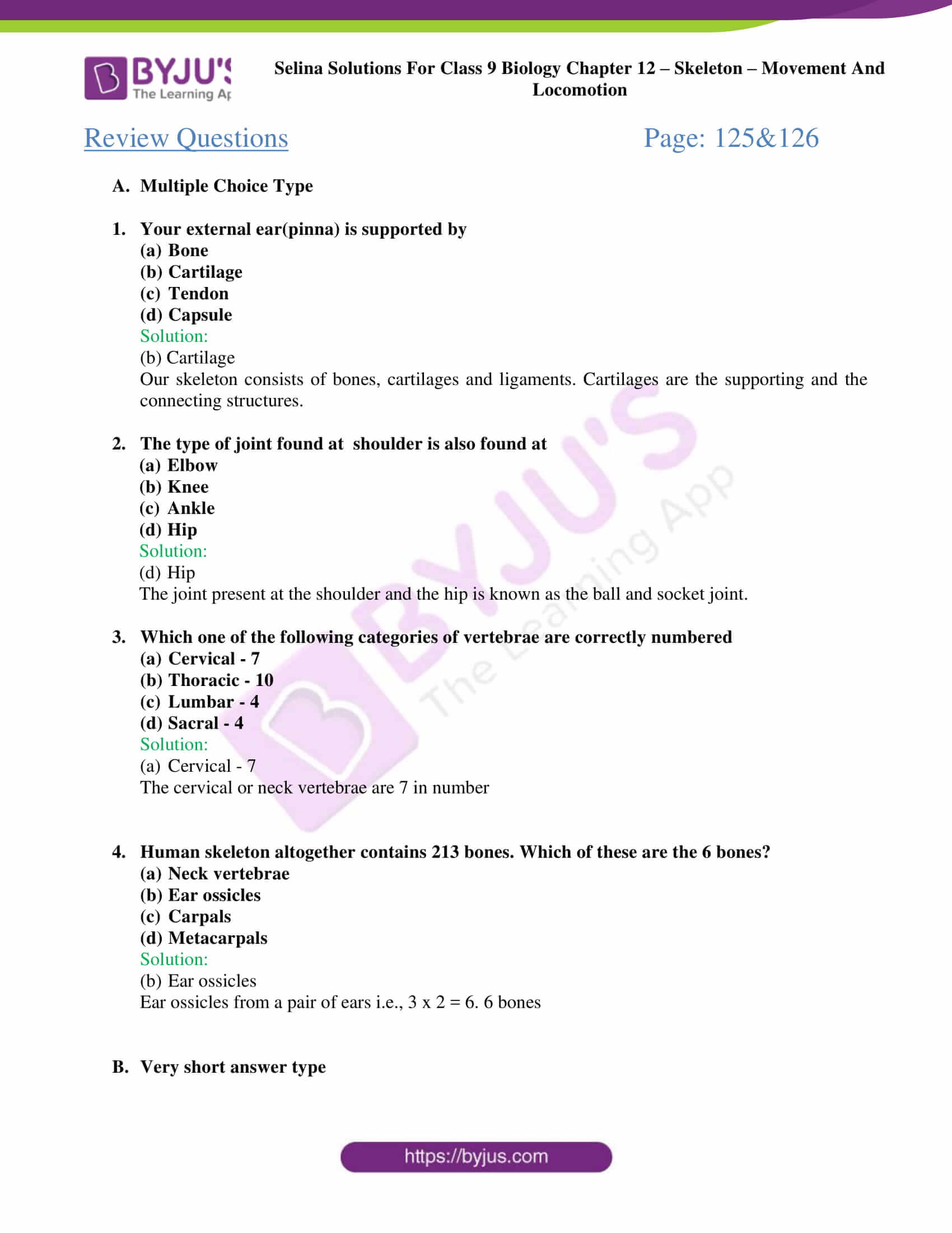 selina Solutions For Class 9 Biology Chapter 12 part 4