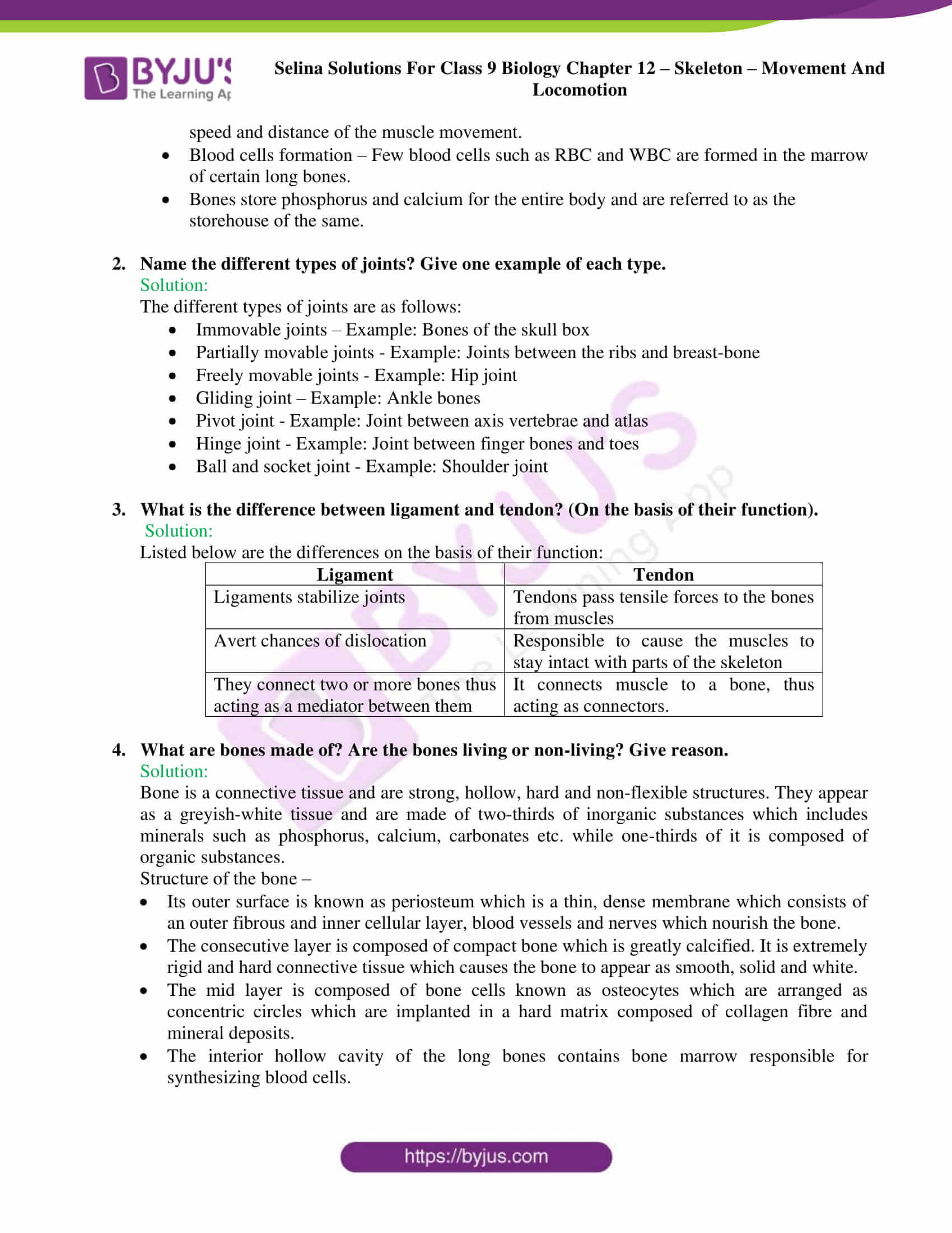 selina Solutions For Class 9 Biology Chapter 12 part 7