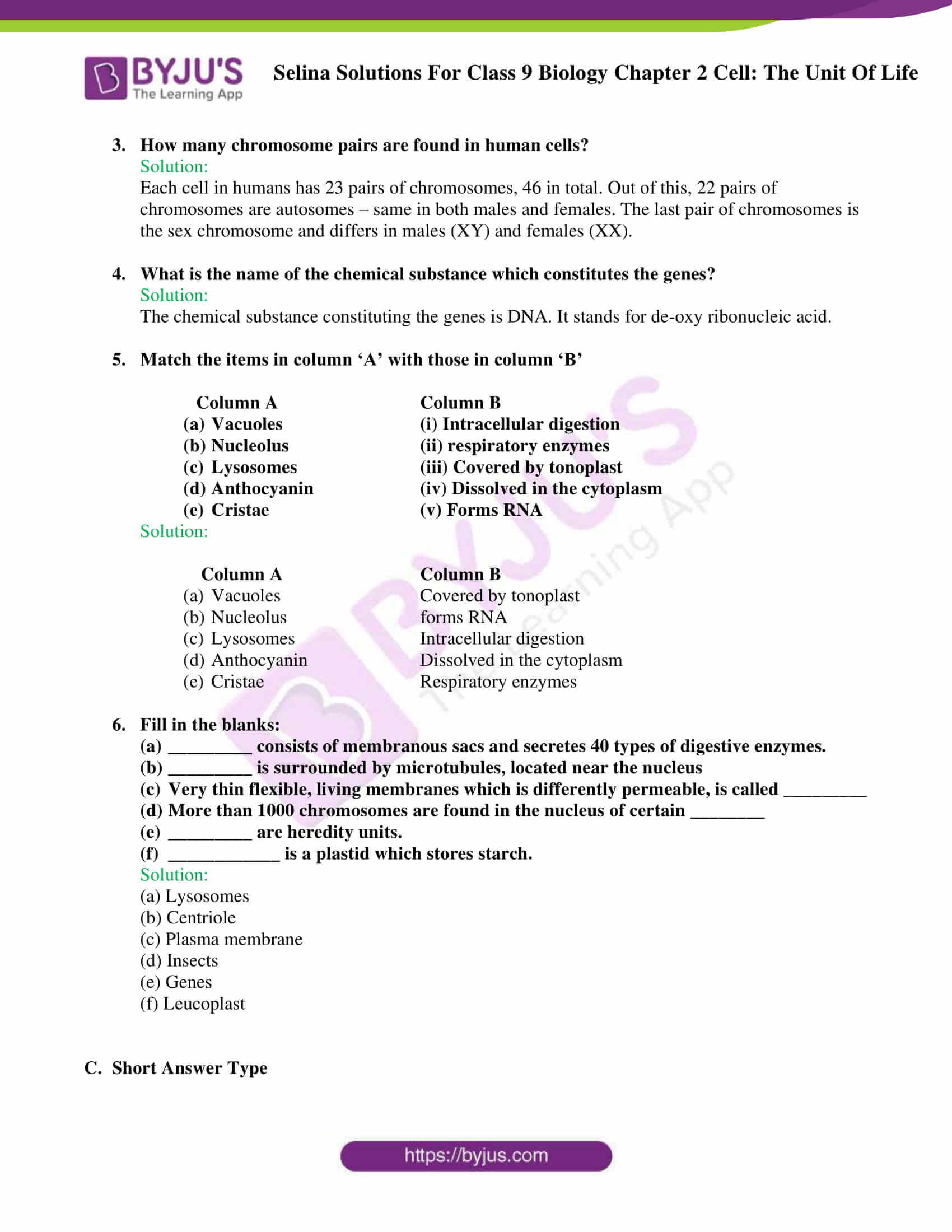 Selina Solutions For Class 9 Biology Chapter 2 Cell The Unit Of Life part 09