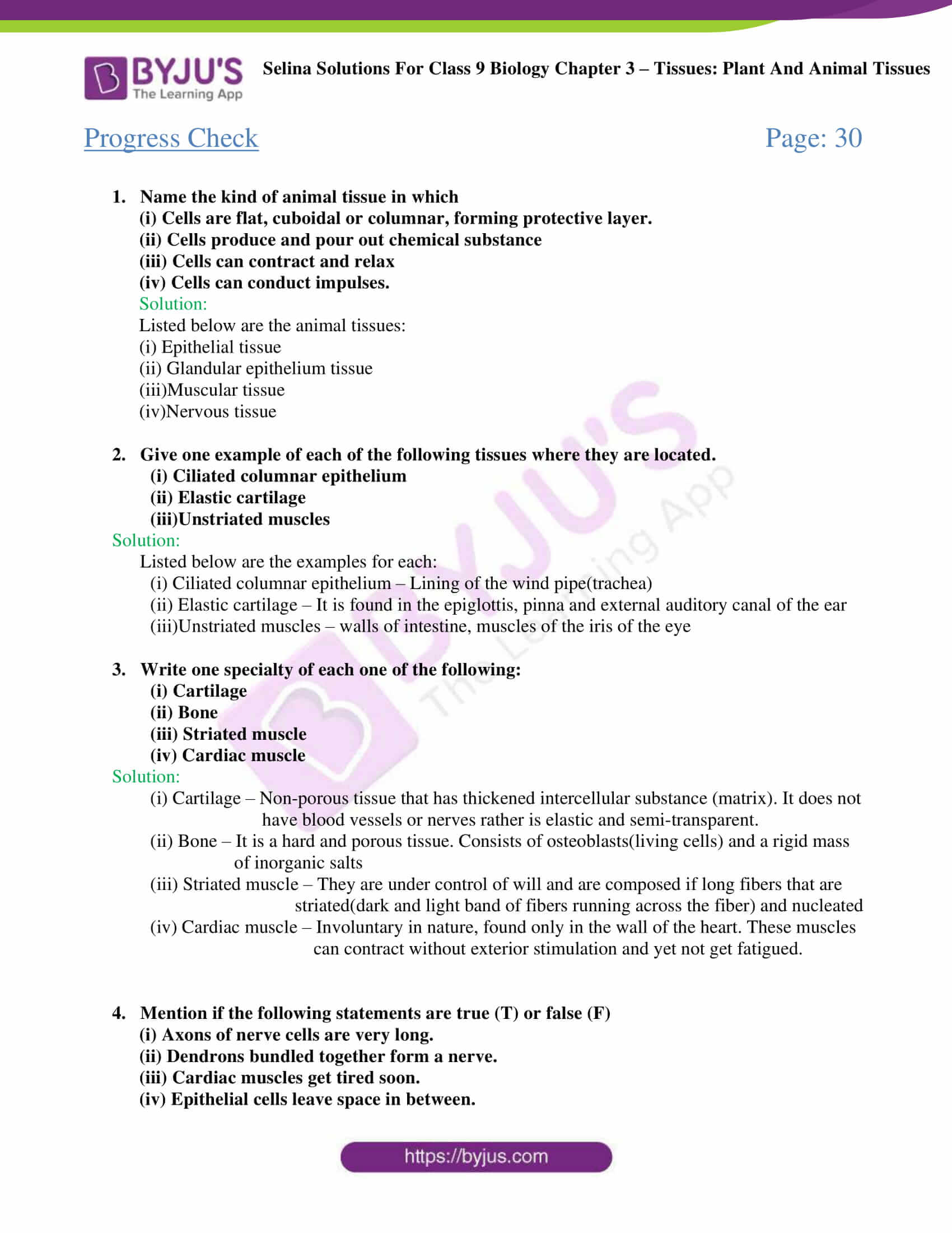 Selina Solutions For Class 9 Biology Chapter 3 Tissues Plant And Animal Tissues part 02