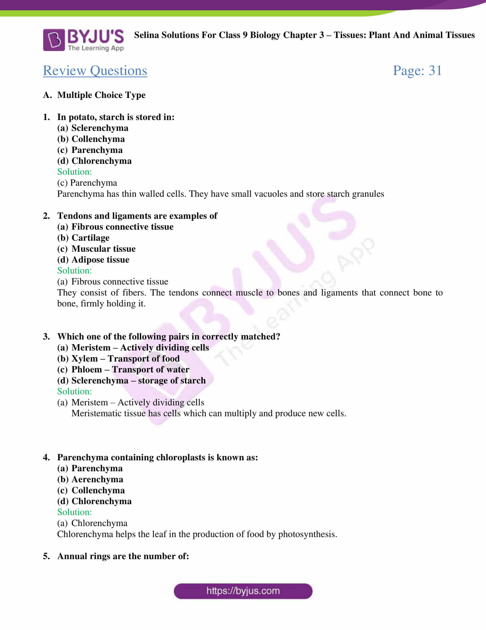 Selina Solutions For Class 9 Biology Chapter 3 Tissues Plant And Animal Tissues part 04