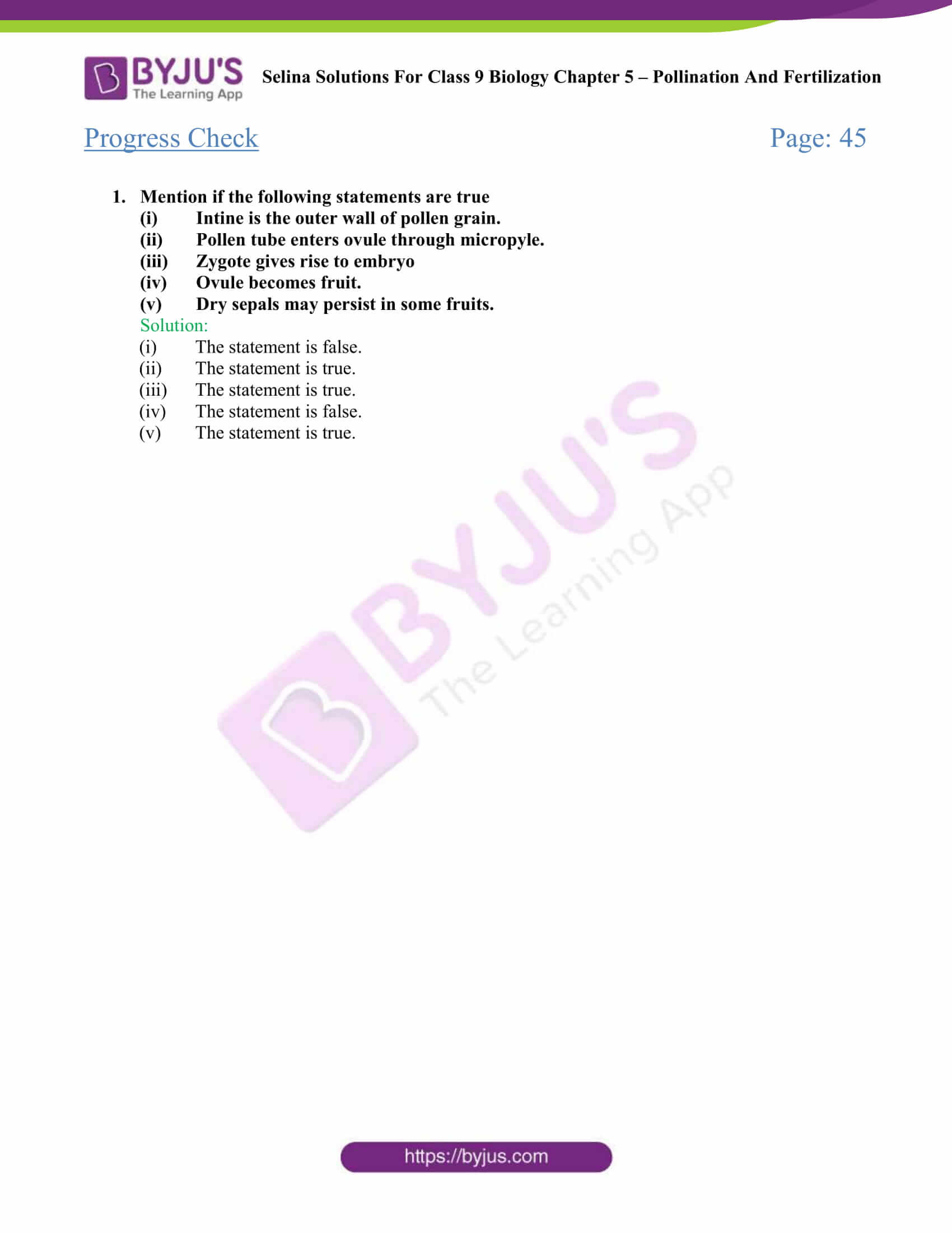 Selina Solutions For Class 9 Biology Chapter 5 Pollination And Fertilization part 02