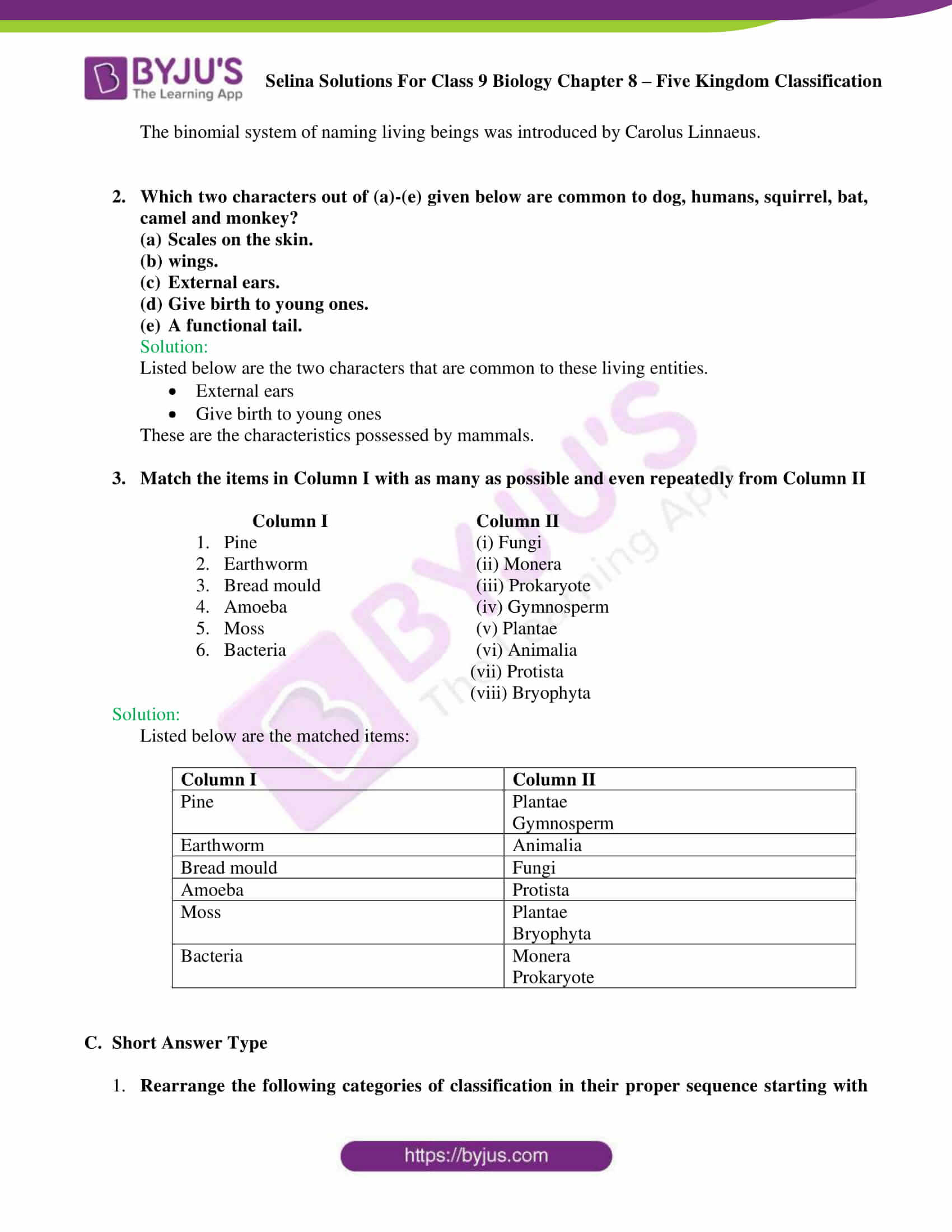 Selina Solutions For Class 9 Biology Chapter 8 Five Kingdom Classification part 06
