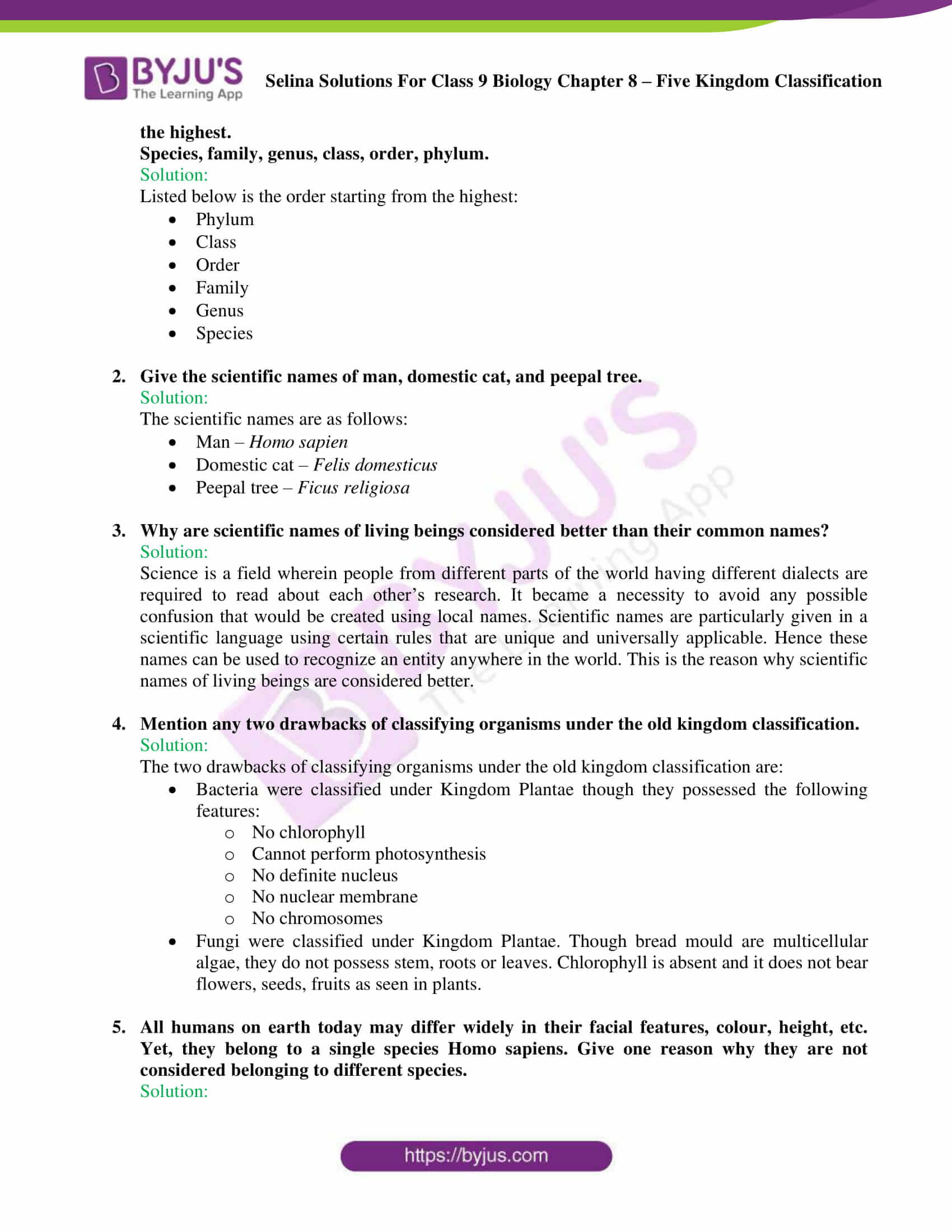 Selina Solutions For Class 9 Biology Chapter 8 Five Kingdom Classification part 07