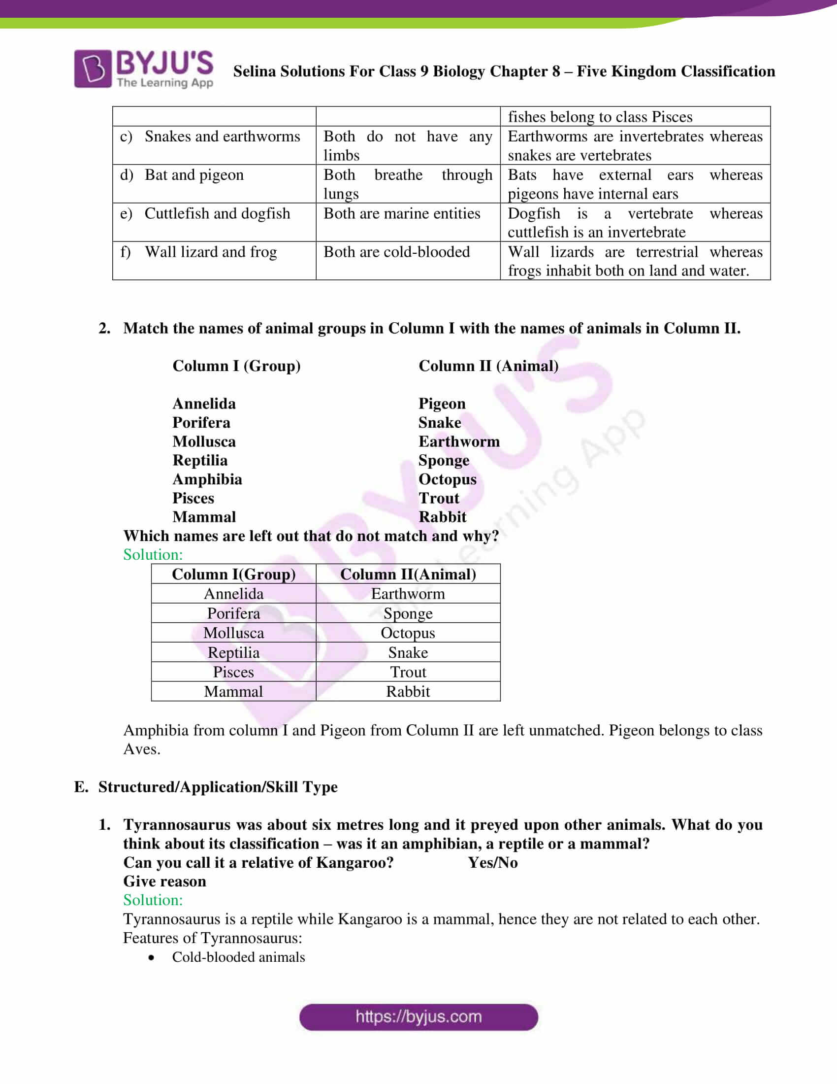 Selina Solutions For Class 9 Biology Chapter 8 Five Kingdom Classification part 11