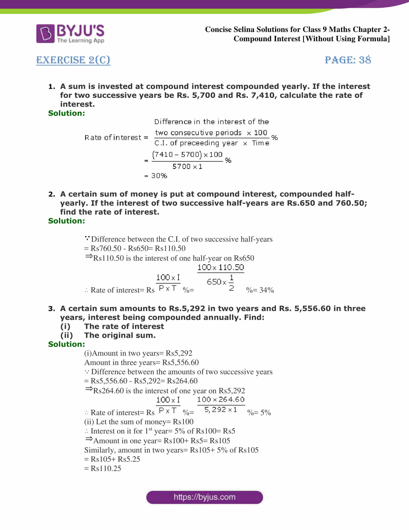 Selina Solutions for Class 9 Maths Chapter 2 Compound Interest part 15