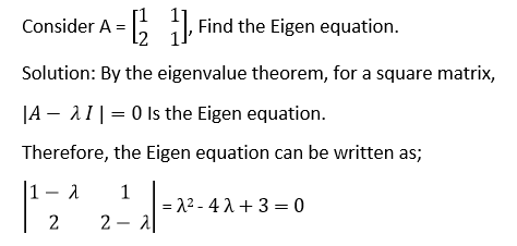 Eigenvalue Example