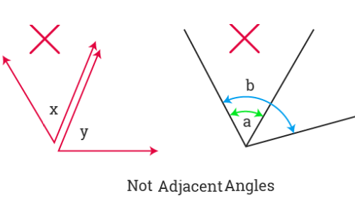 Not Adjacent Angles