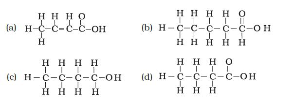structural formula of butanoic acid