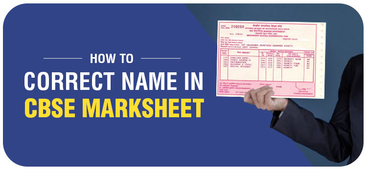 how to correct name in cbse marksheet