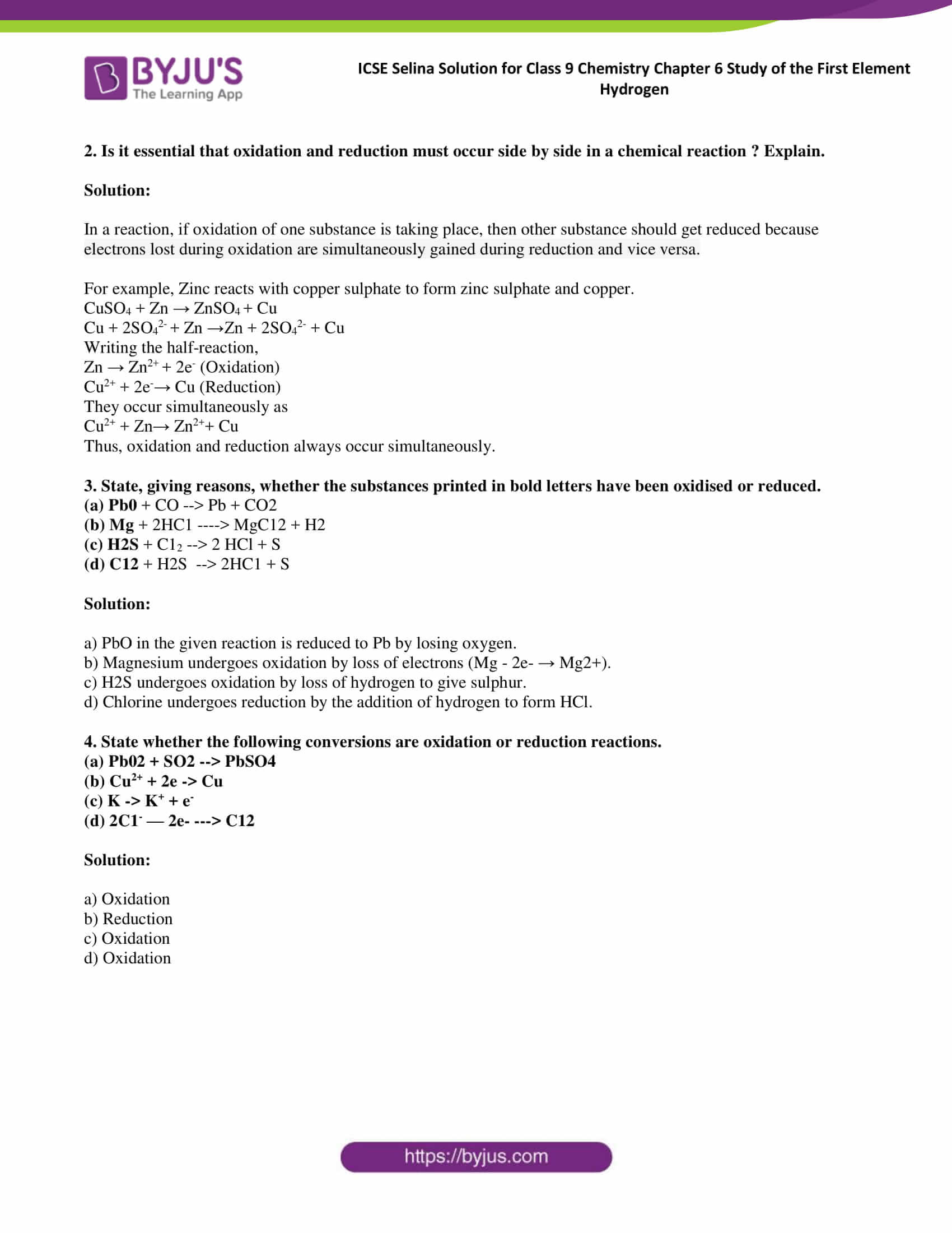 ICSE Selina Solution class 9 Chemistry Chapter 6 Exercise part 15