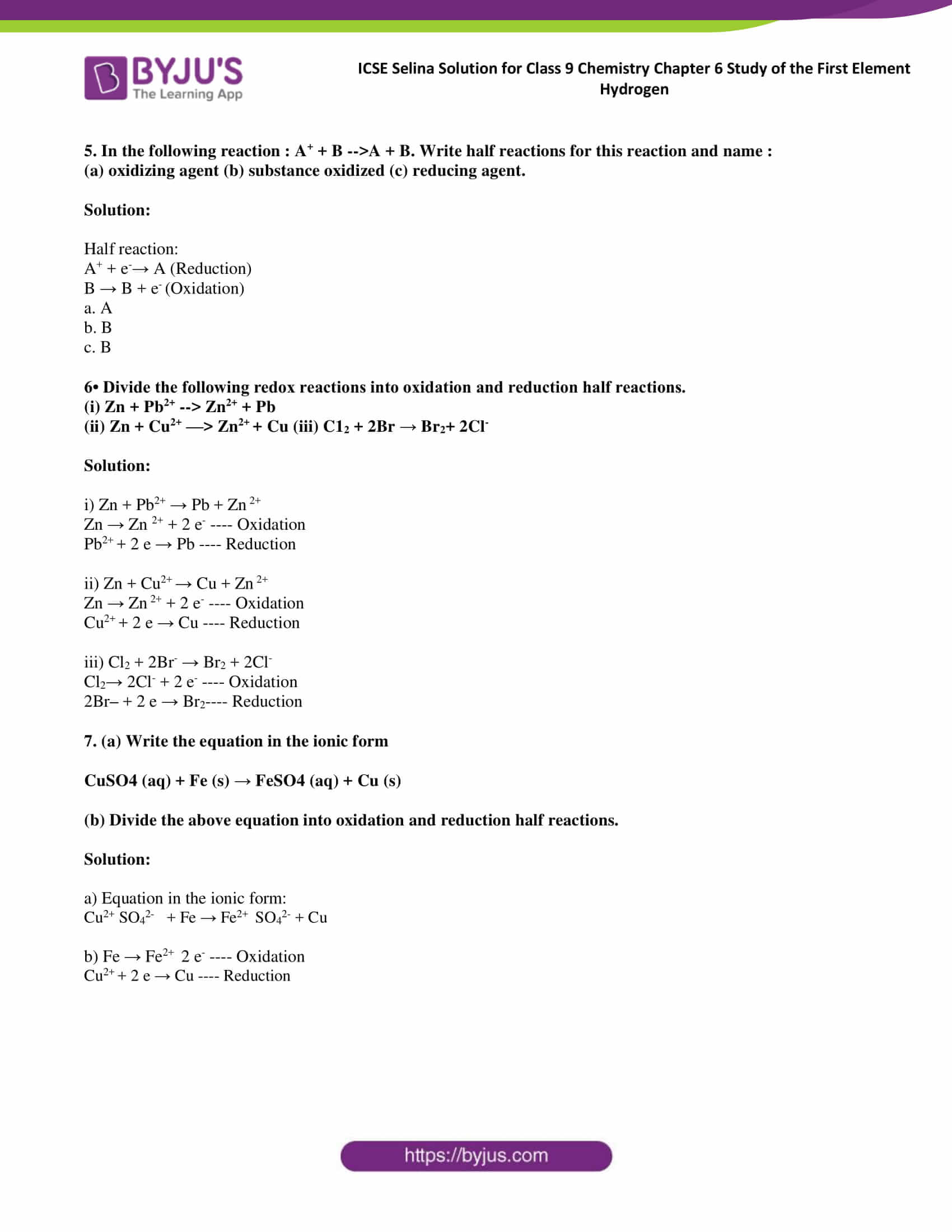 ICSE Selina Solution class 9 Chemistry Chapter 6 Exercise part 16