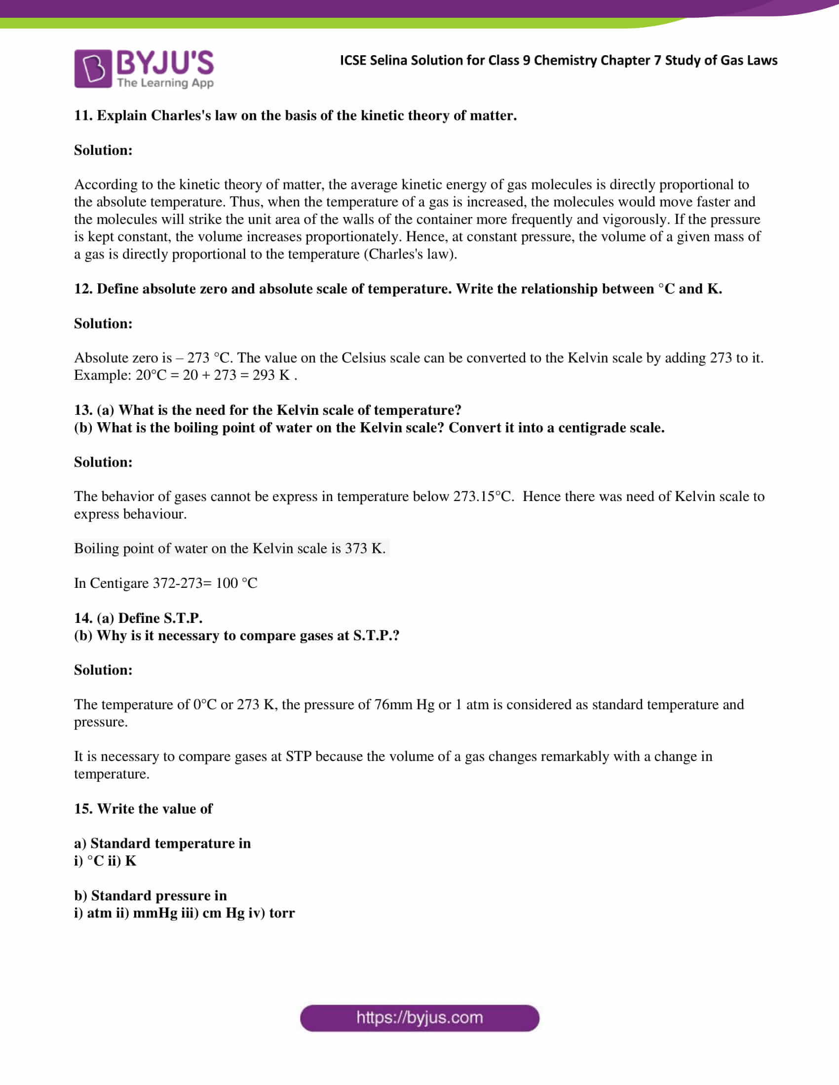 ICSE Selina Solution class 9 Chemistry Chapter 7 Exercise part 08