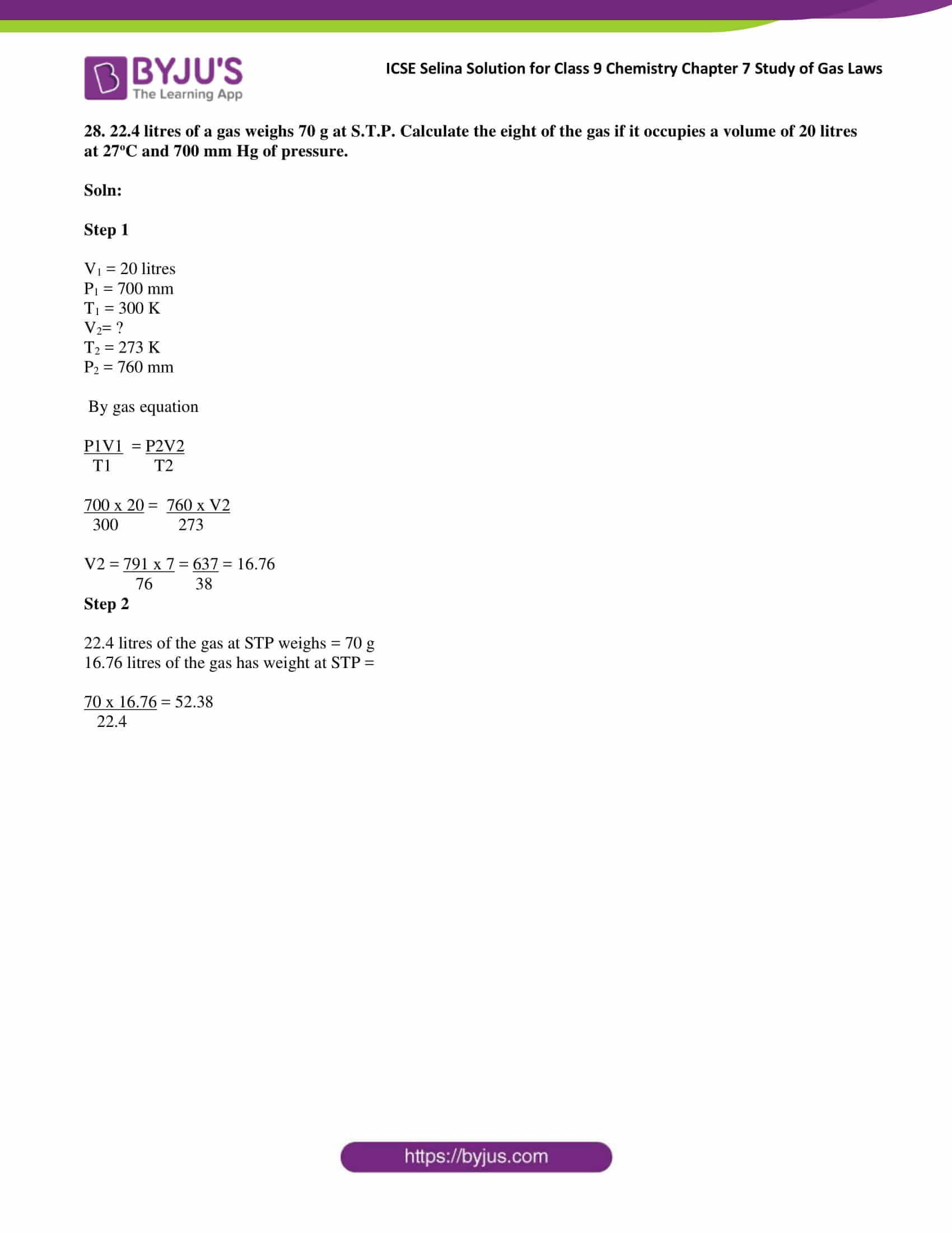 ICSE Selina Solution class 9 Chemistry Chapter 7 Exercise part 31